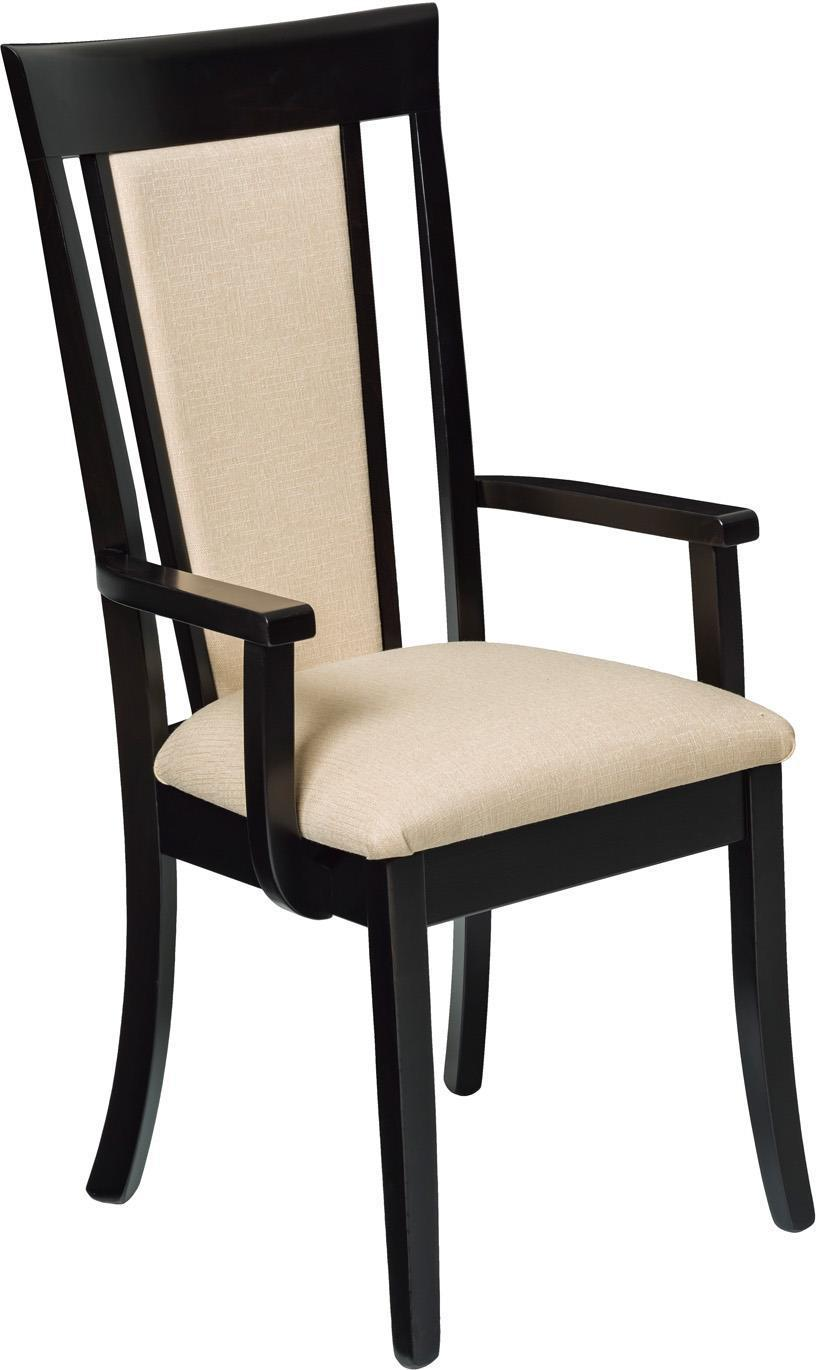 jamestown upholstered arm chair with high back from dutchcrafters. Black Bedroom Furniture Sets. Home Design Ideas