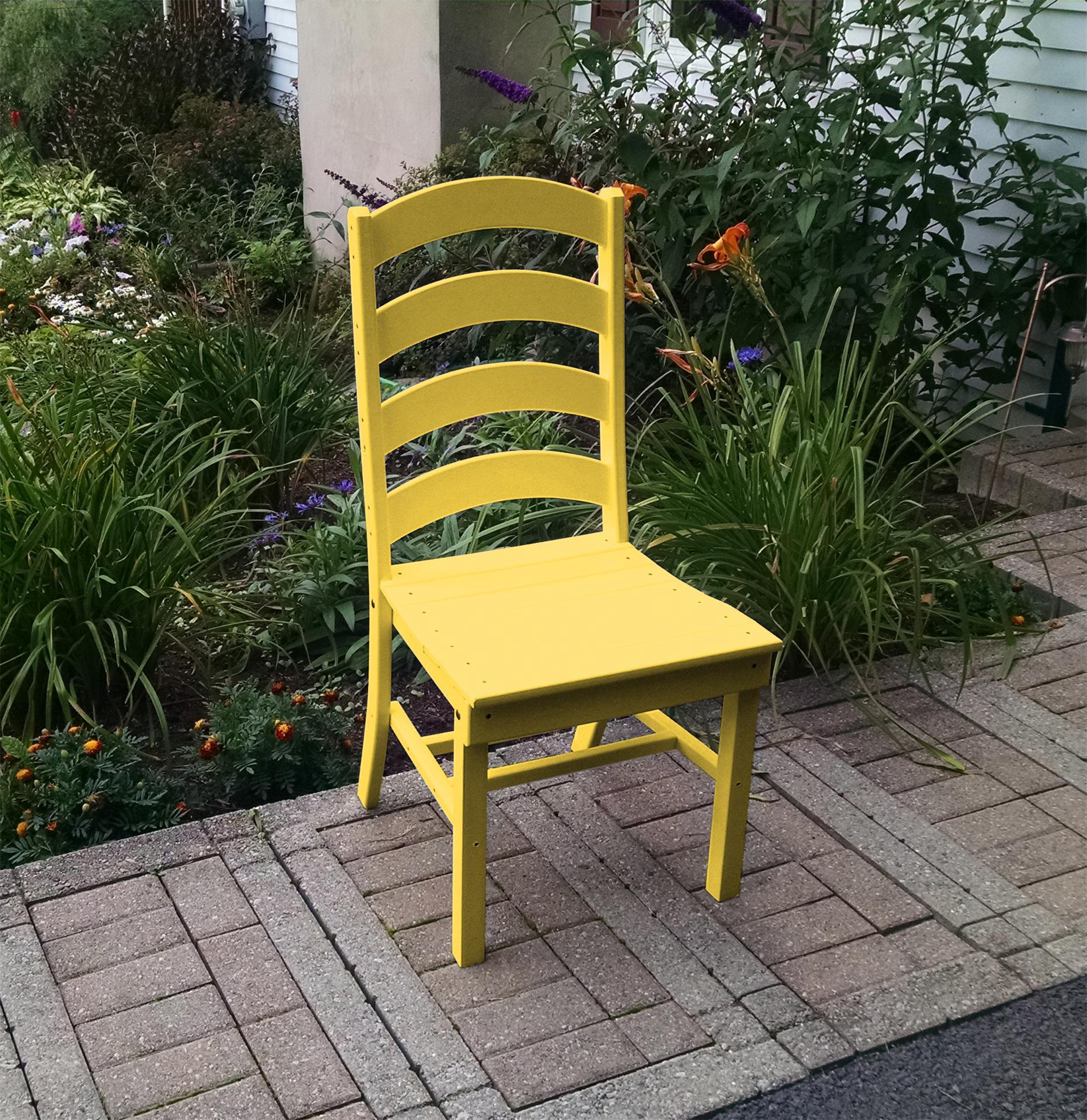 Amazing Amish Poly Ladder Back Dining Chair Download Free Architecture Designs Grimeyleaguecom