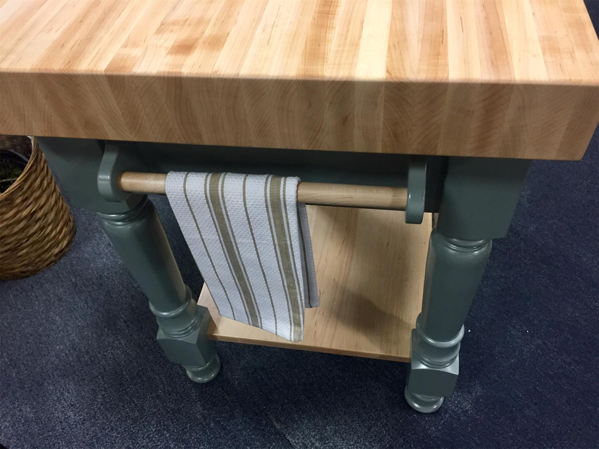 Turned Leg Standing Butcher Block From Dutchcrafters Amish Furniture
