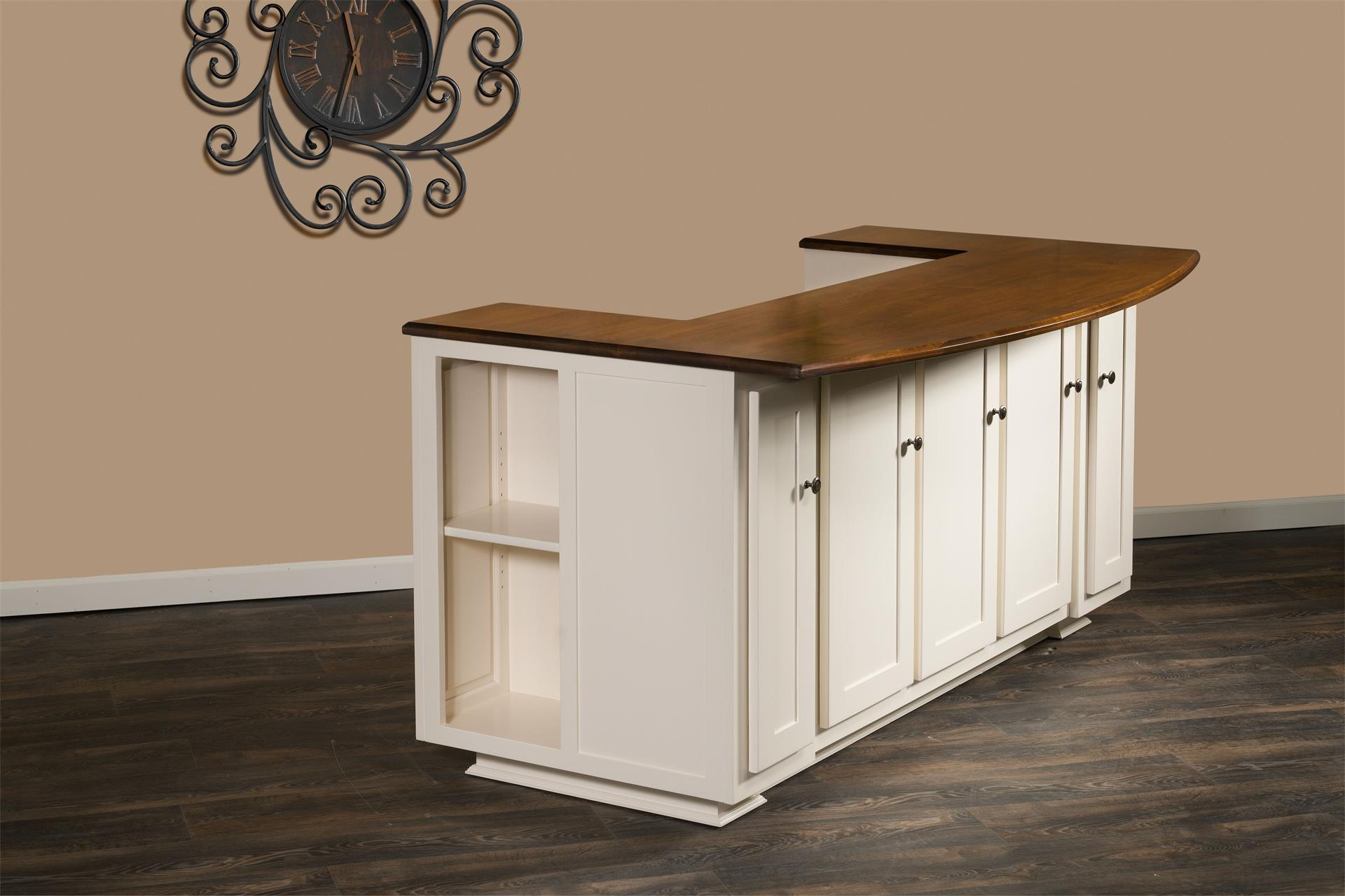Newbury kitchen island with bench from dutchcrafters amish furniture