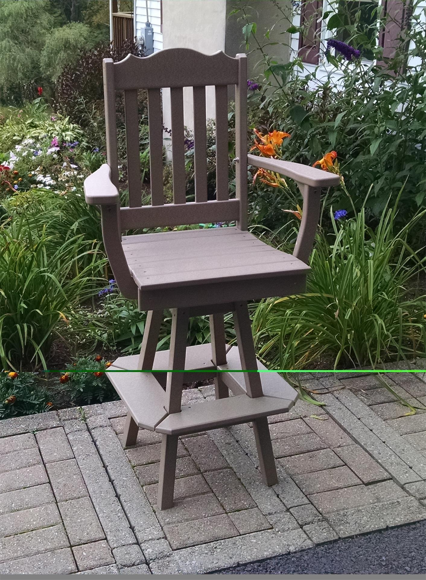 Image of: Poly Royal Swivel Bar Chair From Dutchcrafters Amish Furniture