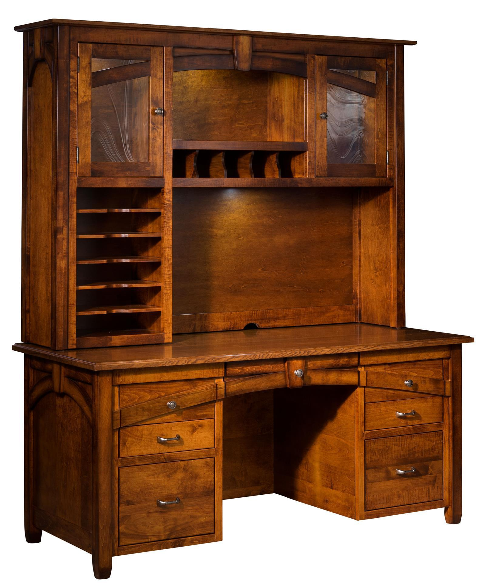 Kensing Executive Wall Desk With Hutch Top From
