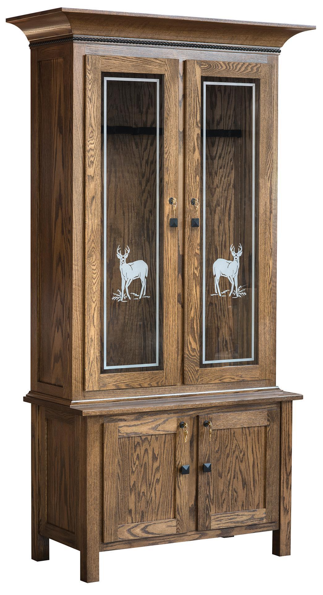 American Easton Wooden Gun Cabinet From Dutchcrafters