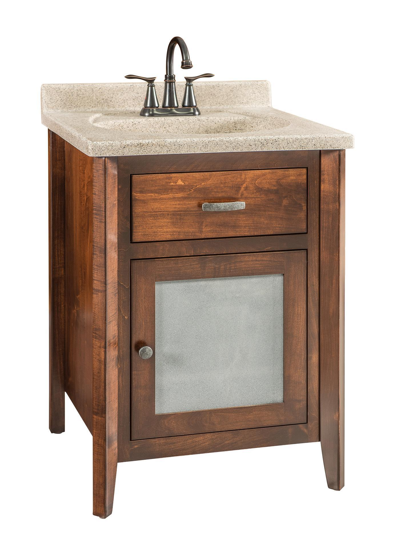 24 Quot Solid Wood Bathroom Vanity From Dutchcrafters Amish