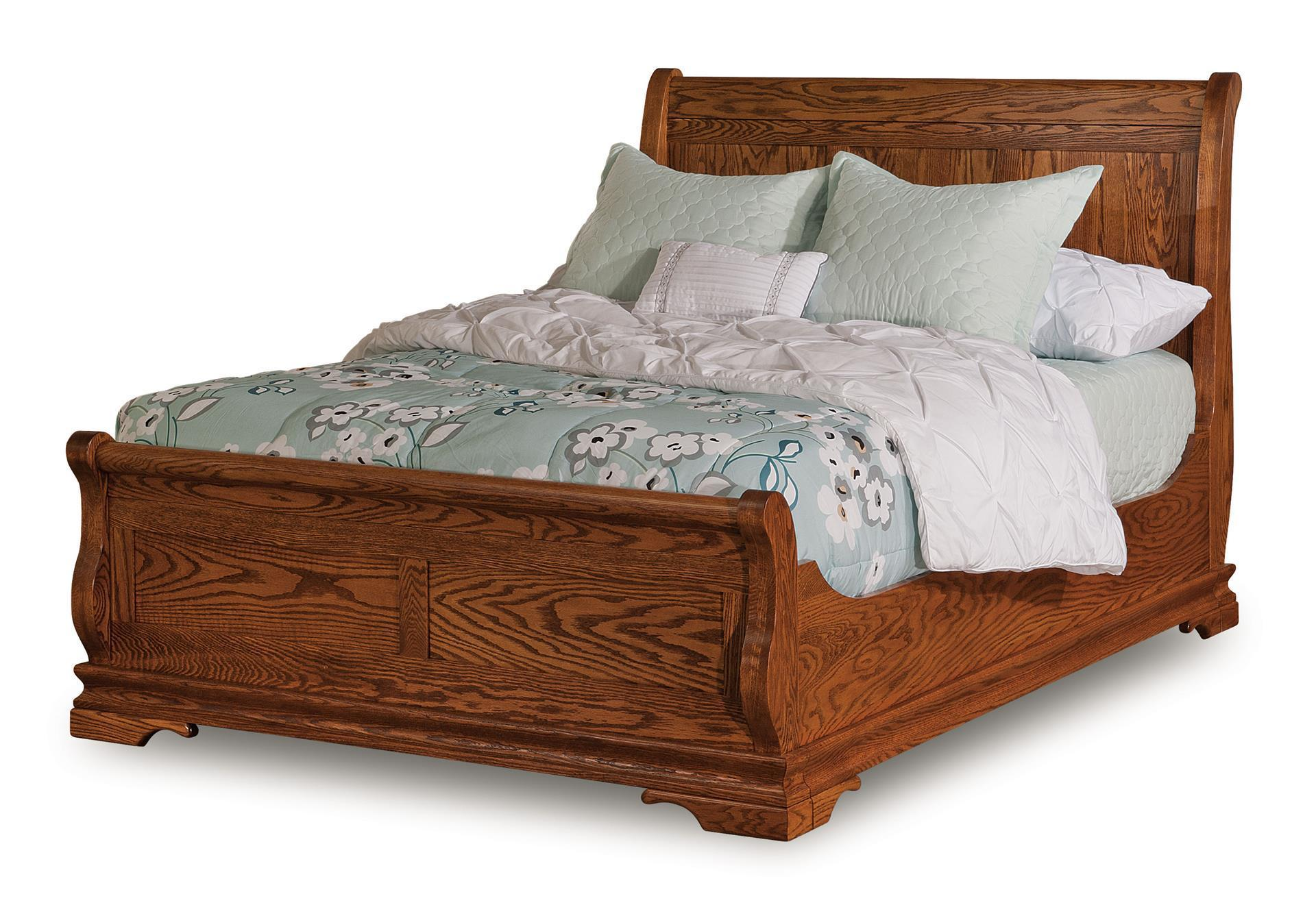 Amish Chippewa Sleigh Bed From Dutchcrafters Amish Furniture
