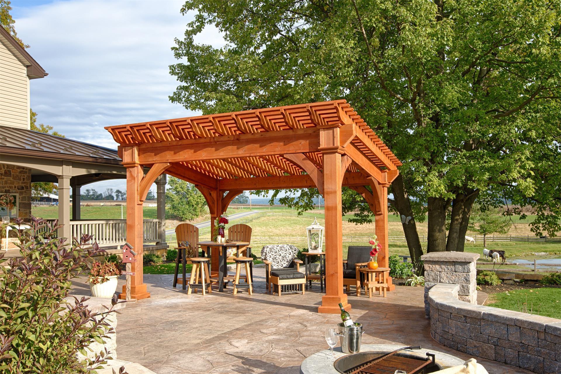 Santa Fe Cedar Pergola From Dutchcrafters Amish Furniture