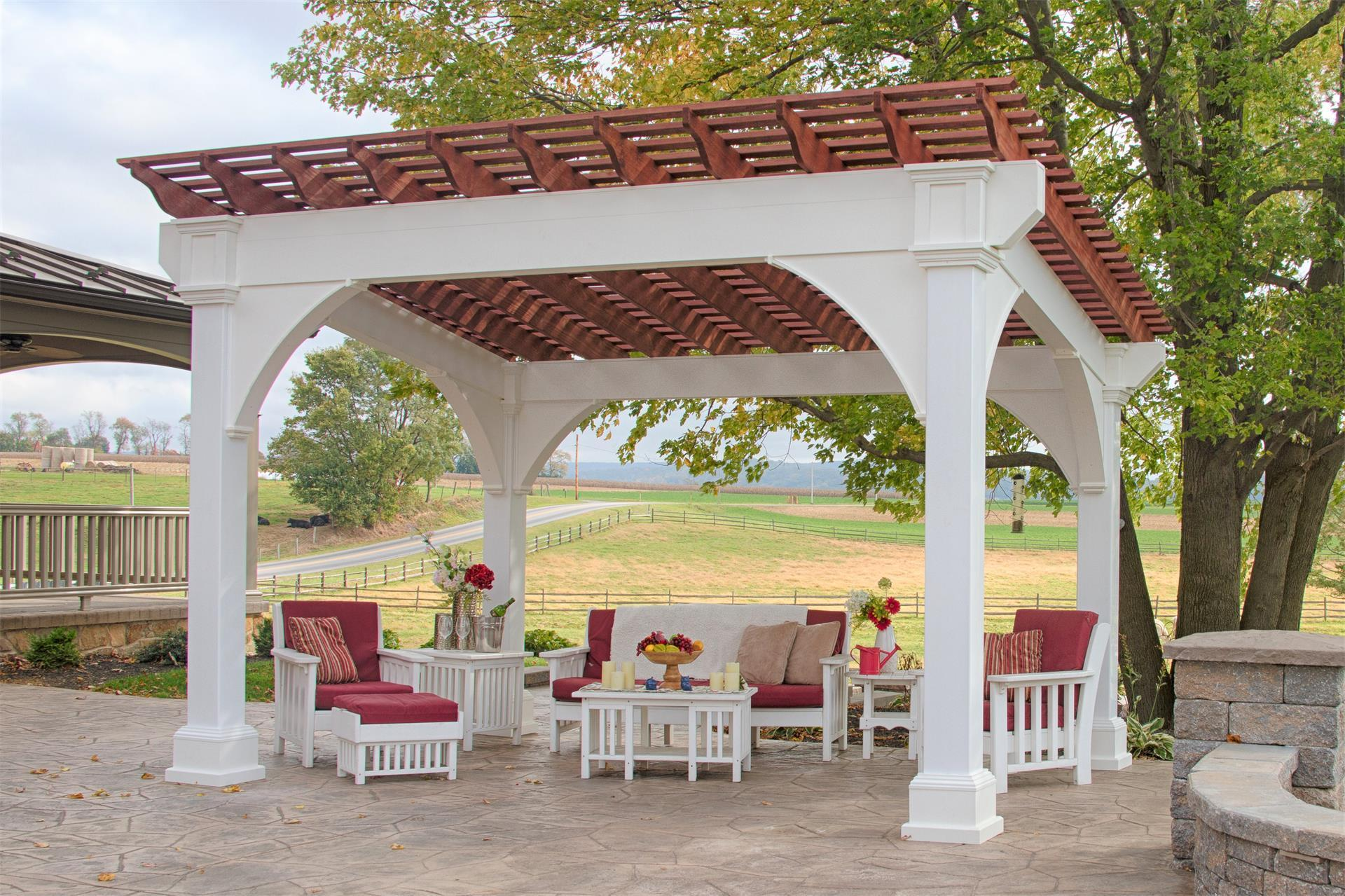 Santa Fe Vinyl Pergola From Dutchcrafters Amish Furniture
