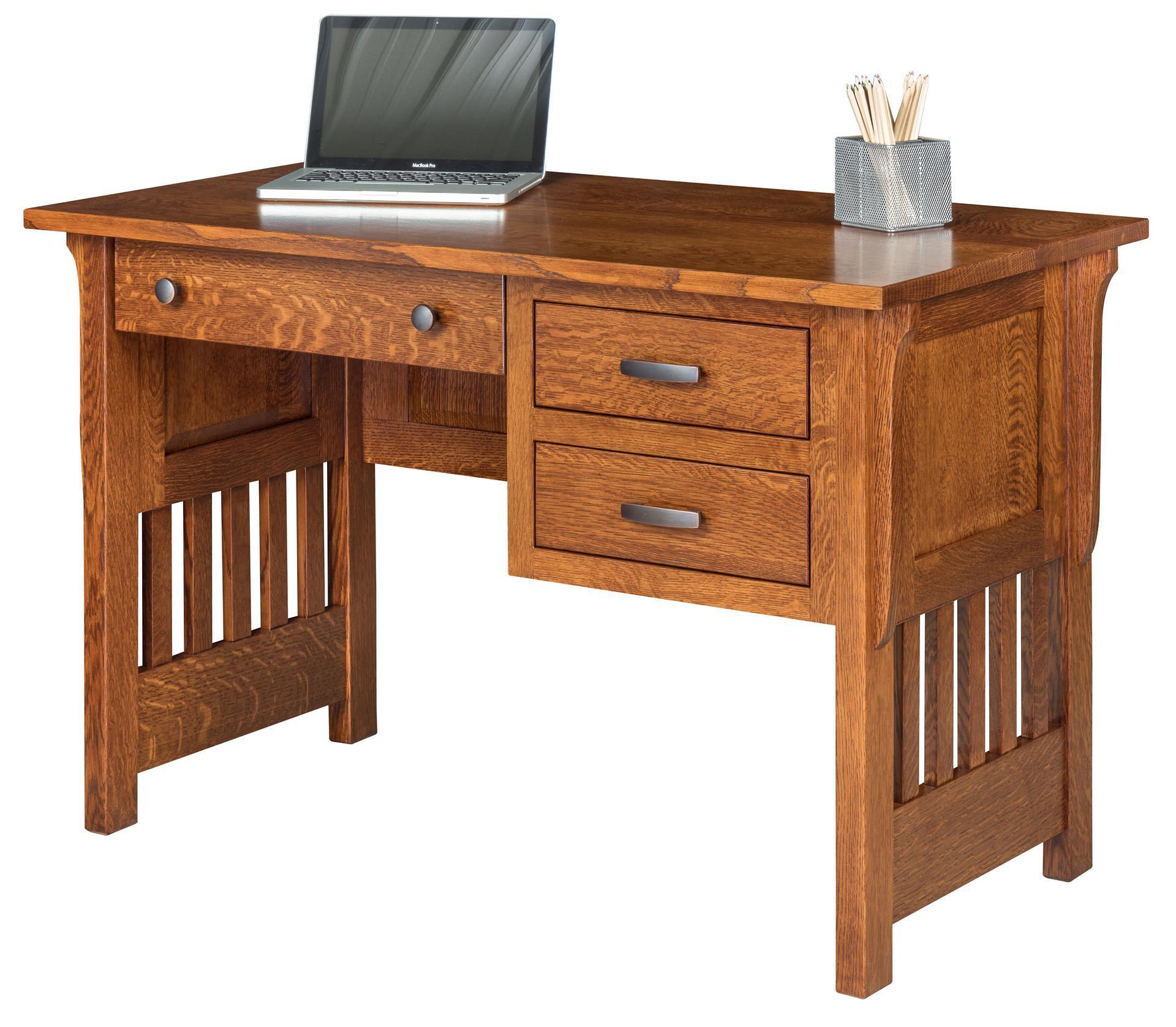boston mission style open writing desk from dutchcrafters amish. Black Bedroom Furniture Sets. Home Design Ideas