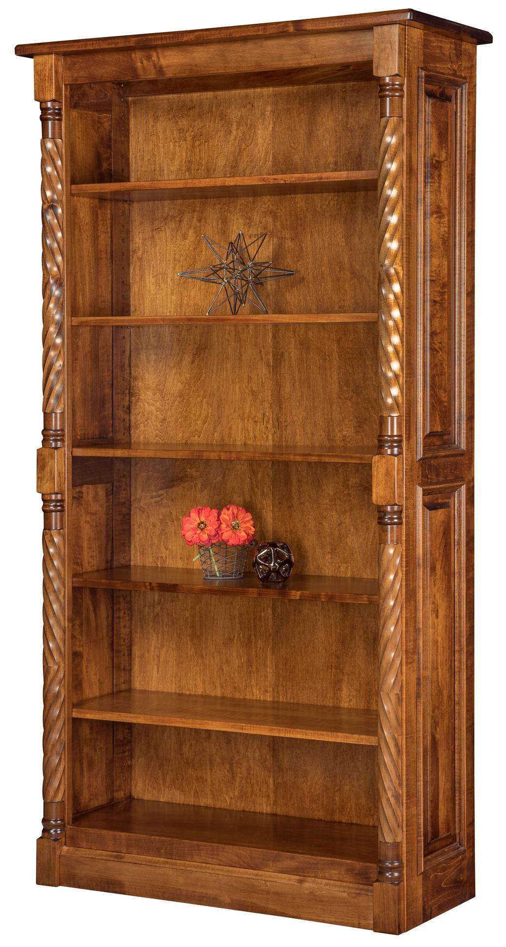Kincaid Solid Wood Bookcase From Dutchcrafters Amish Furniture