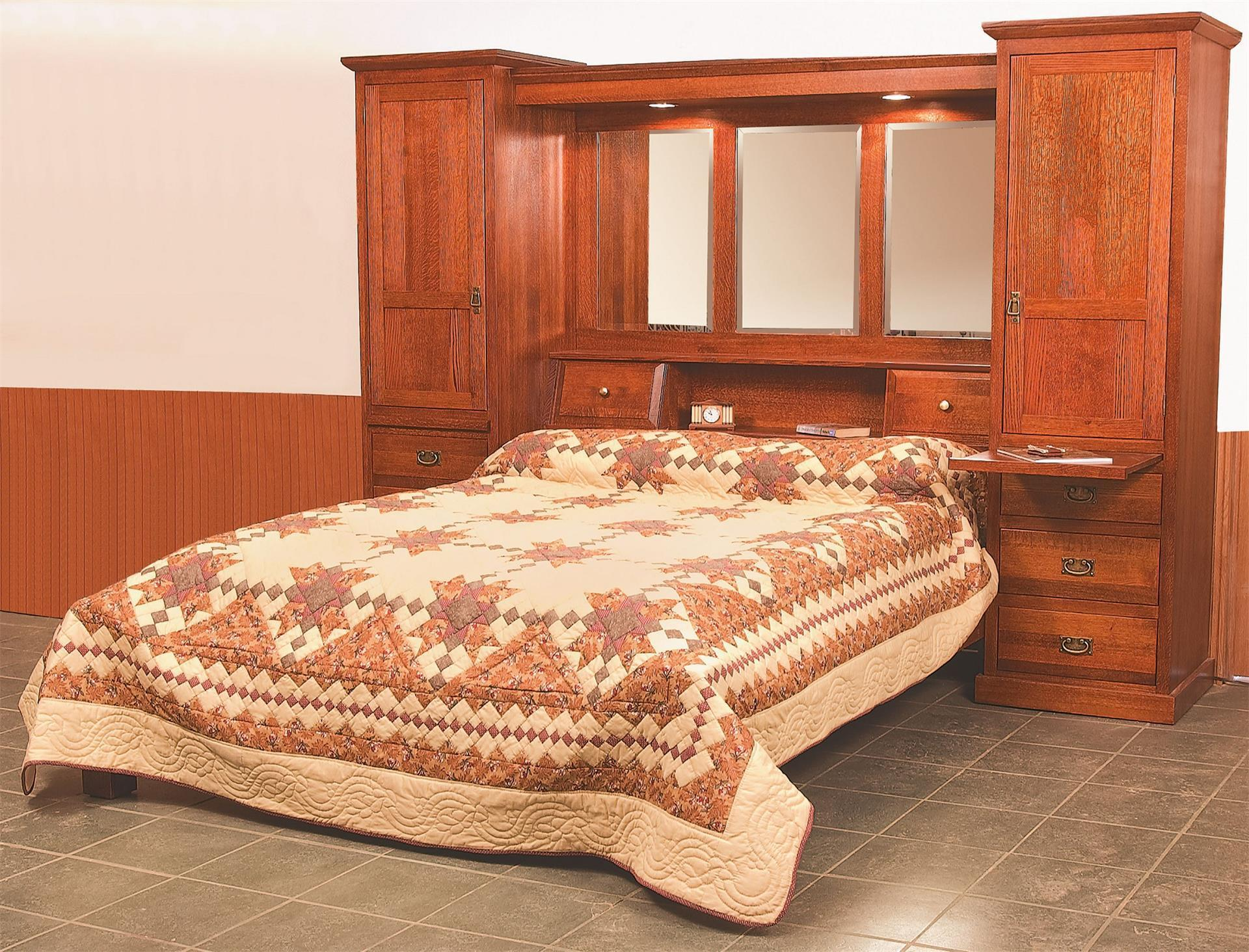 Amish Mission Pier Group Bed From Dutchcrafters Amish Furniture,Rustic French Country Bedroom Furniture