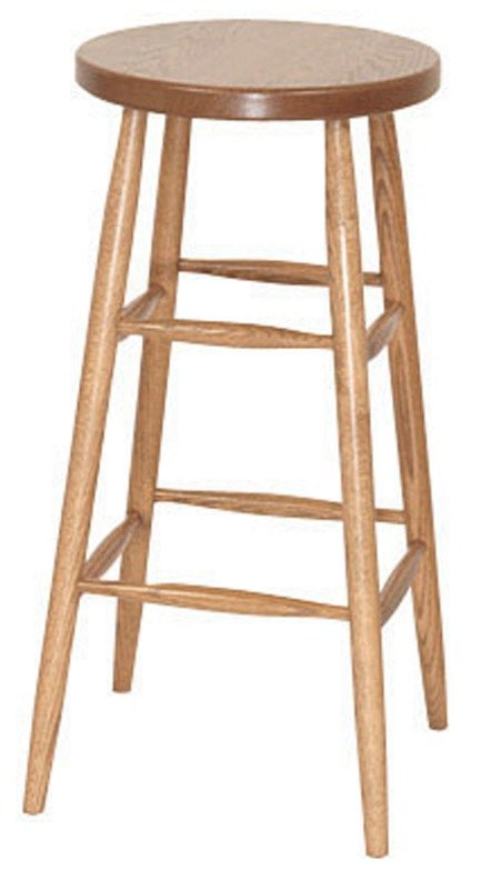 Plain Leg Bar Stool From Dutchcrafters Amish Furniture