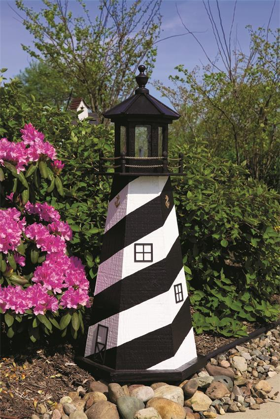 Home Library Decor: Cape Hatteras Wooden Garden Lighthouse By Dutchcrafters Amish