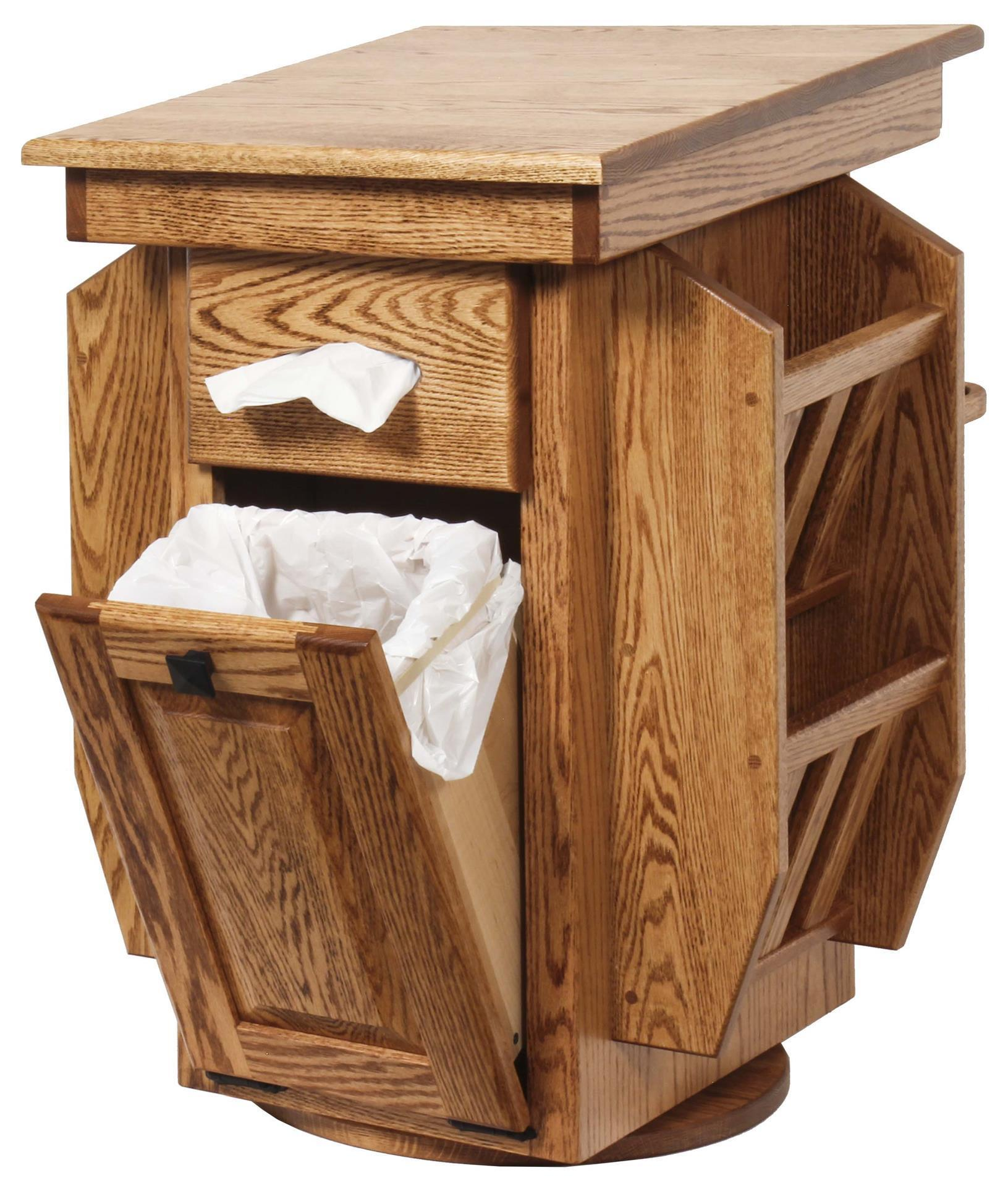 Solid Wood Magazine Stand With Storage