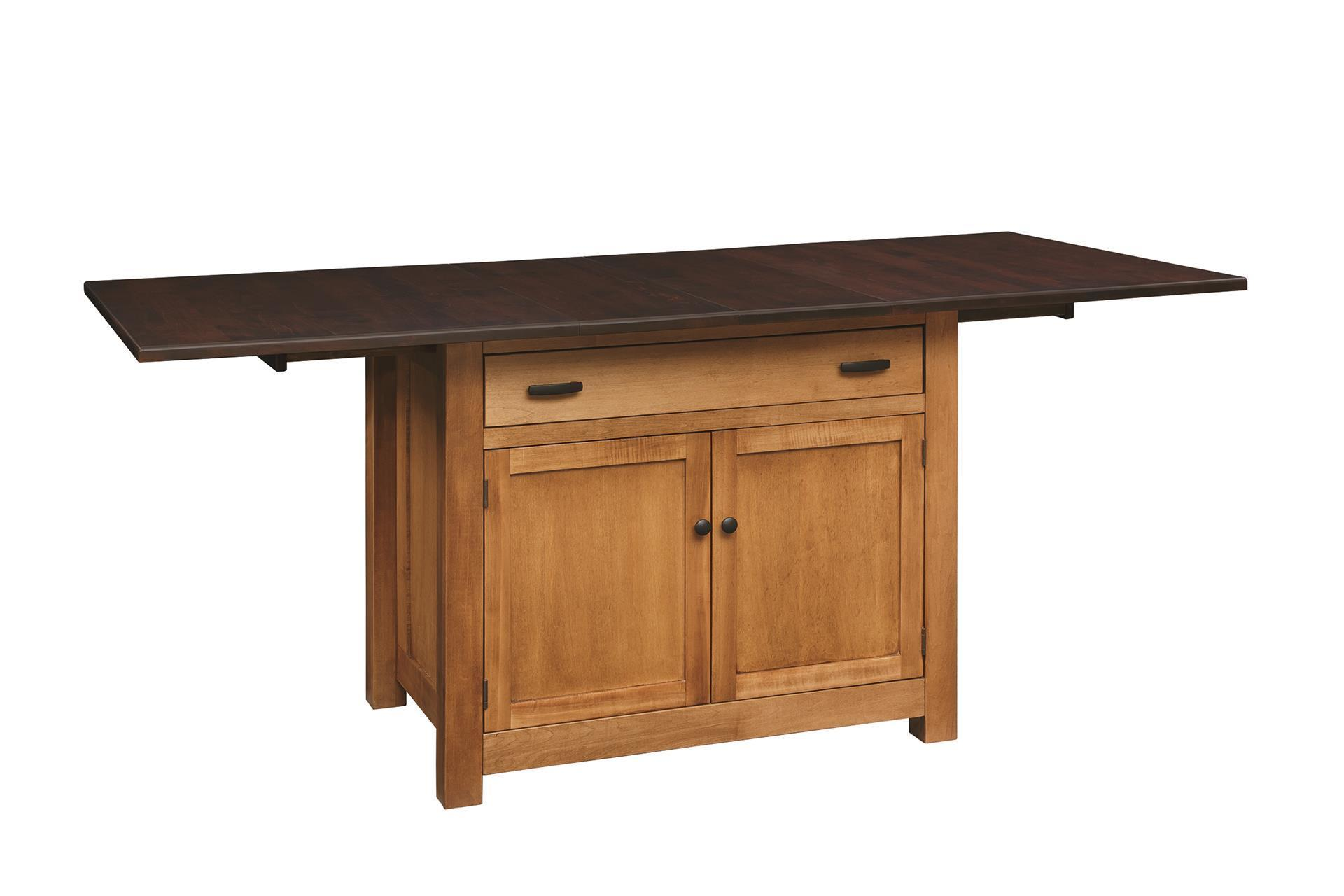 Amish Kitchen Island With Storing Leaves