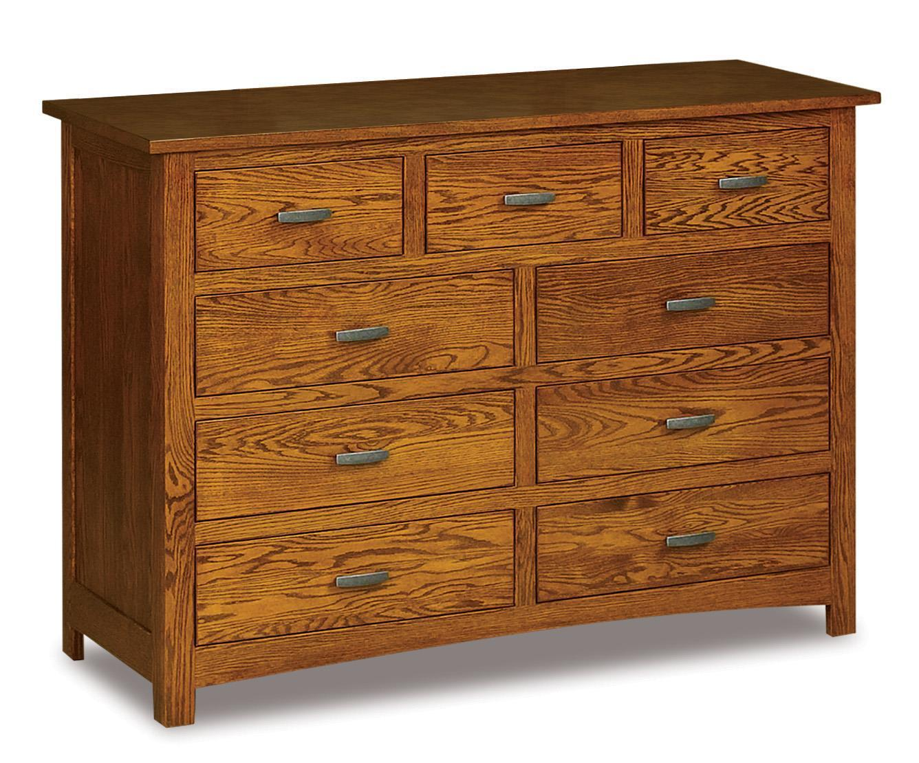Amish Flush Mission 59 Quot Nine Drawer Mule Dresser From