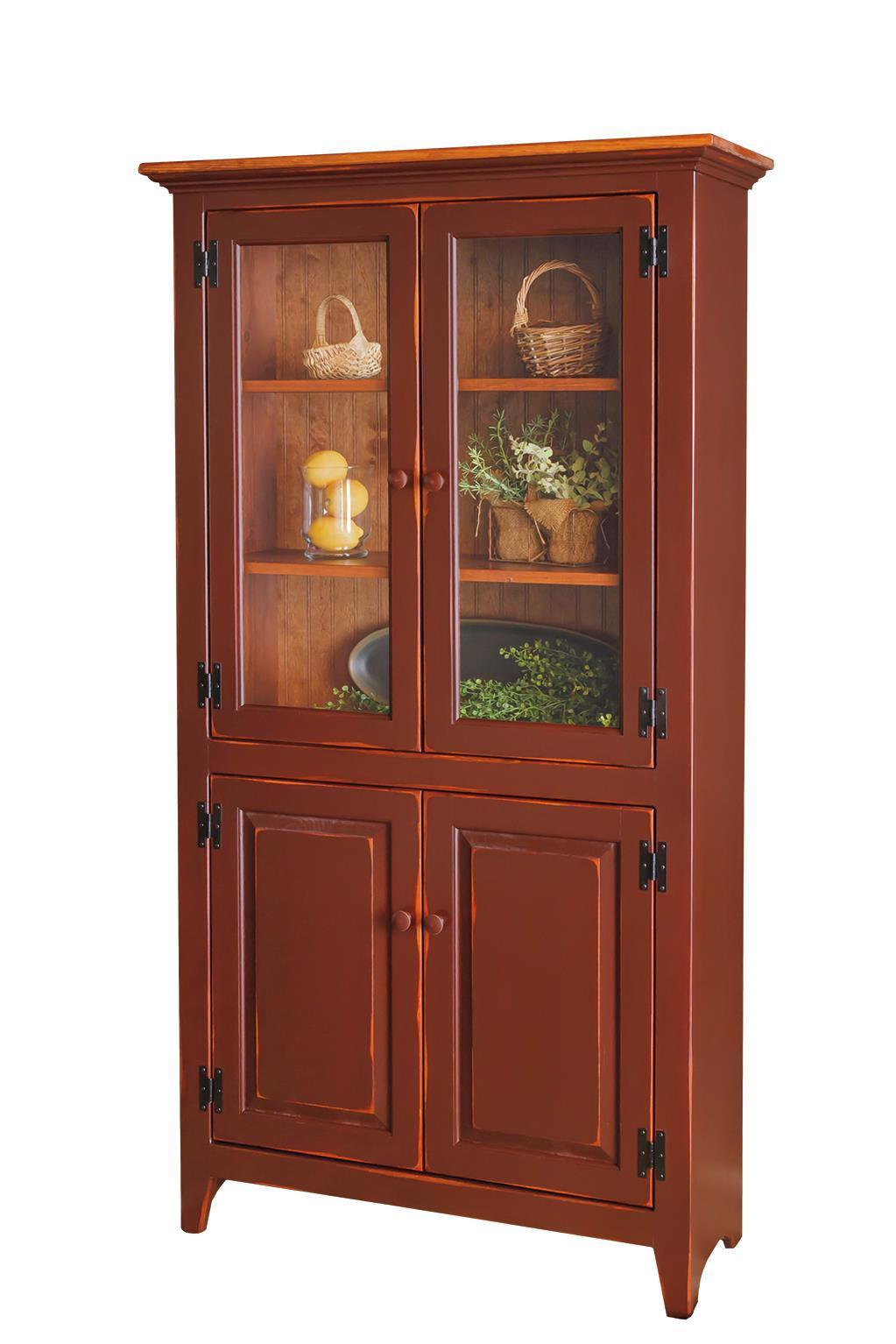 Pid 60435 Amish Pine 4 Door Pantry Cupboard 470 Jpg