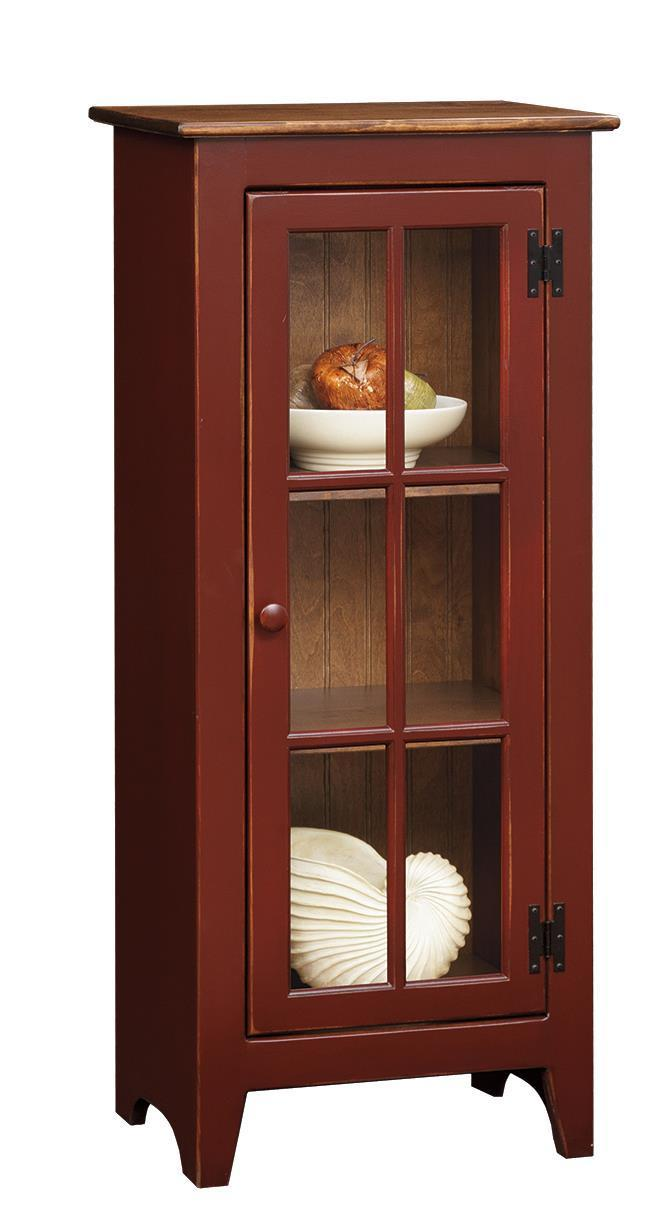 Amish Pine Display Cabinet By Dutchcrafters