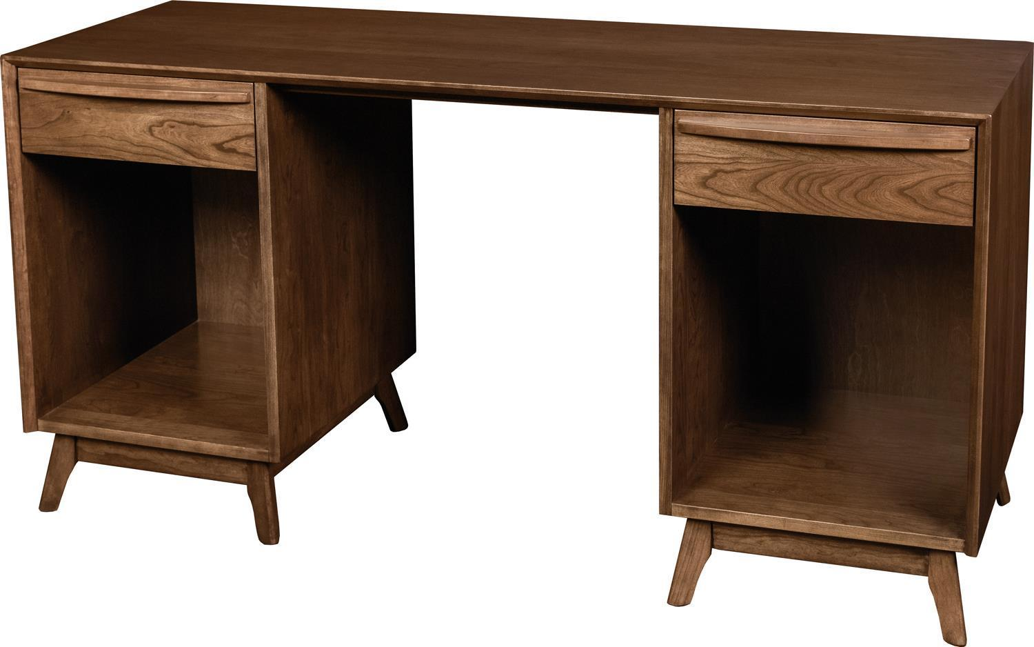 Image of: Cambridge Mid Century Modern Writing Desk By Dutchcrafters Amish