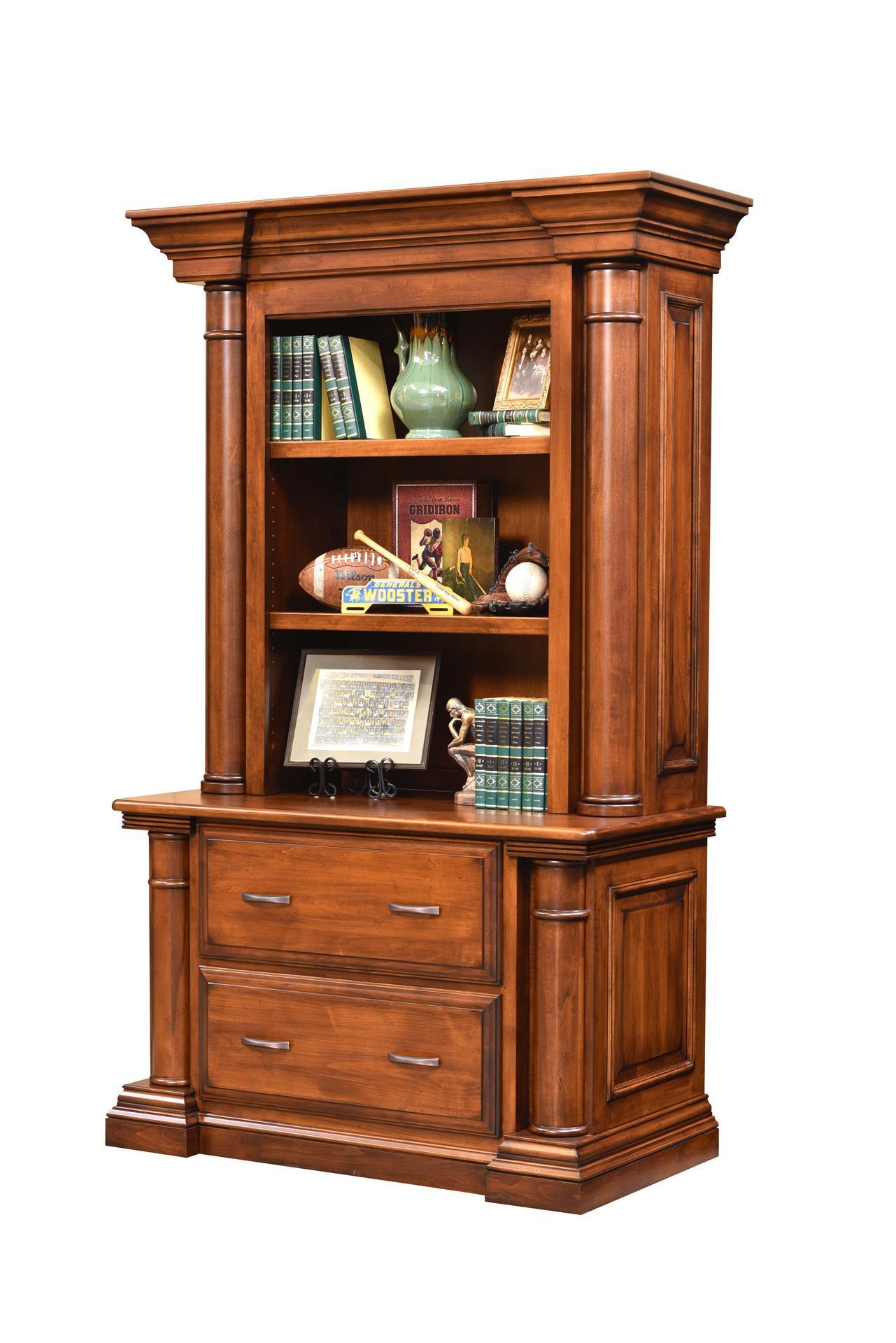Amish Paris Lateral File Cabinet Bookcase