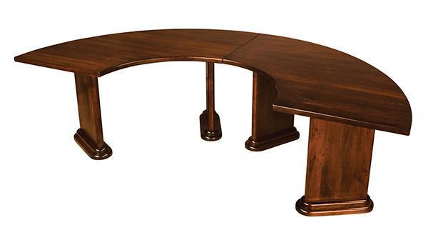 Fan Executive Round Conference Table By DutchCrafters Amish Furniture - Half circle conference table