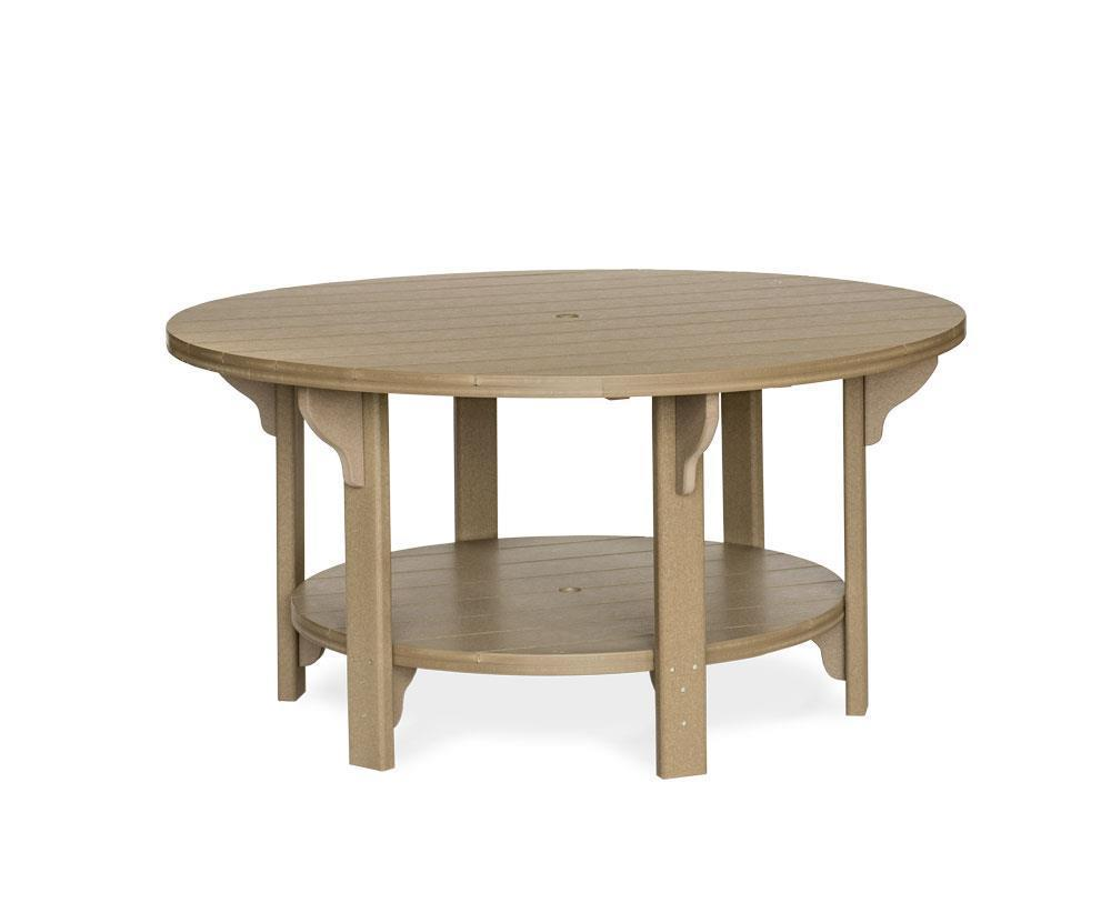 Leisure Lawns Outdoor 5 Foot Round Poly Dining Table From