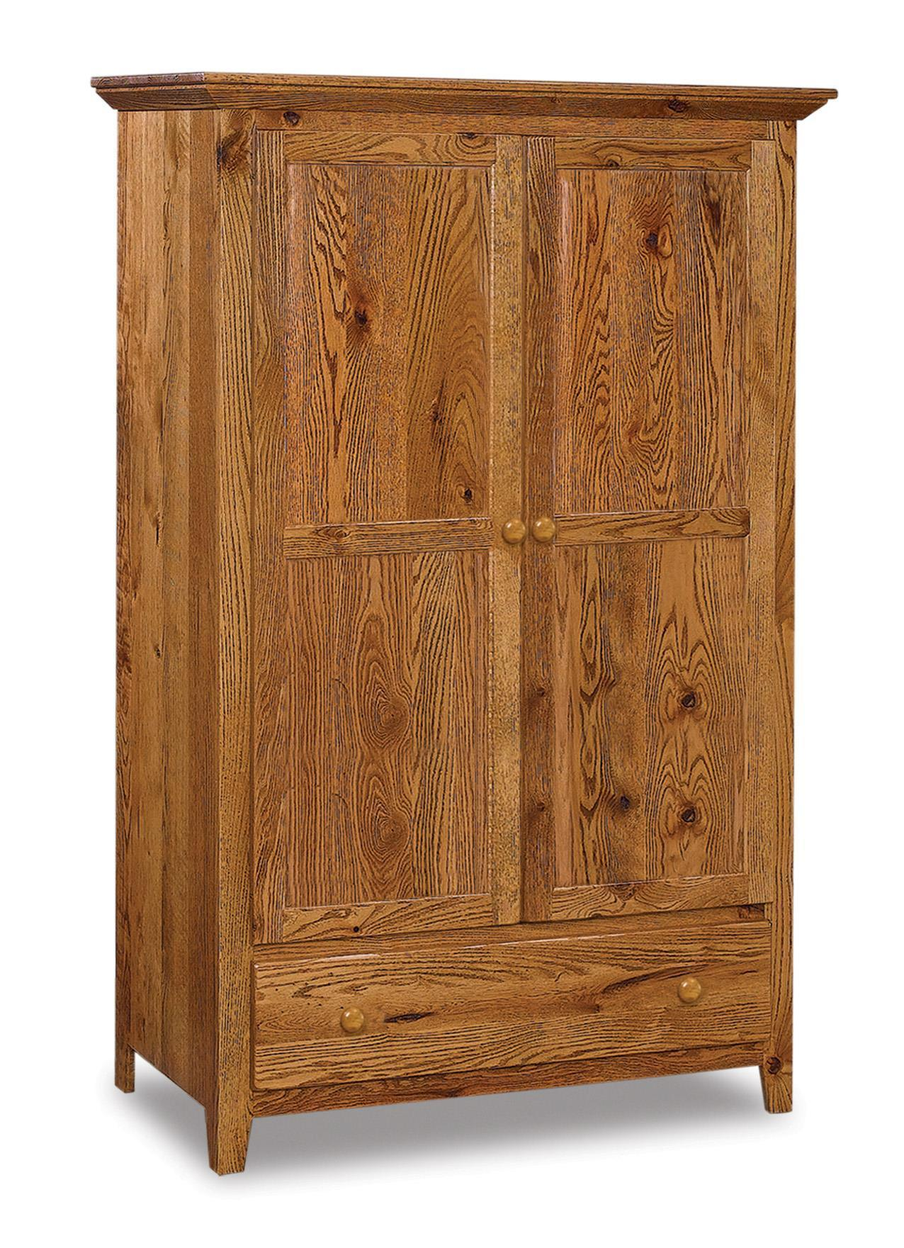 Shaker Style Amish Armoire from DutchCrafters Amish Furniture