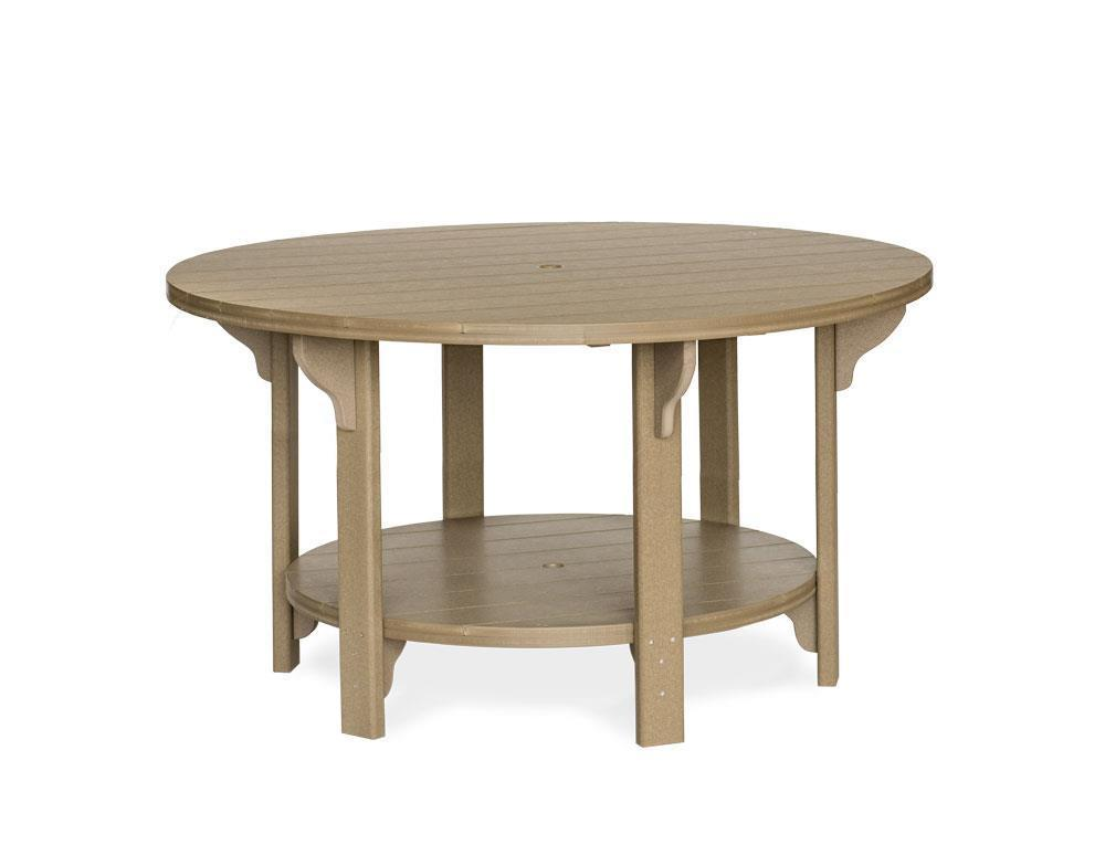 60 Round Out Poly Lumber Counter Table From Dutchcrafters Amish