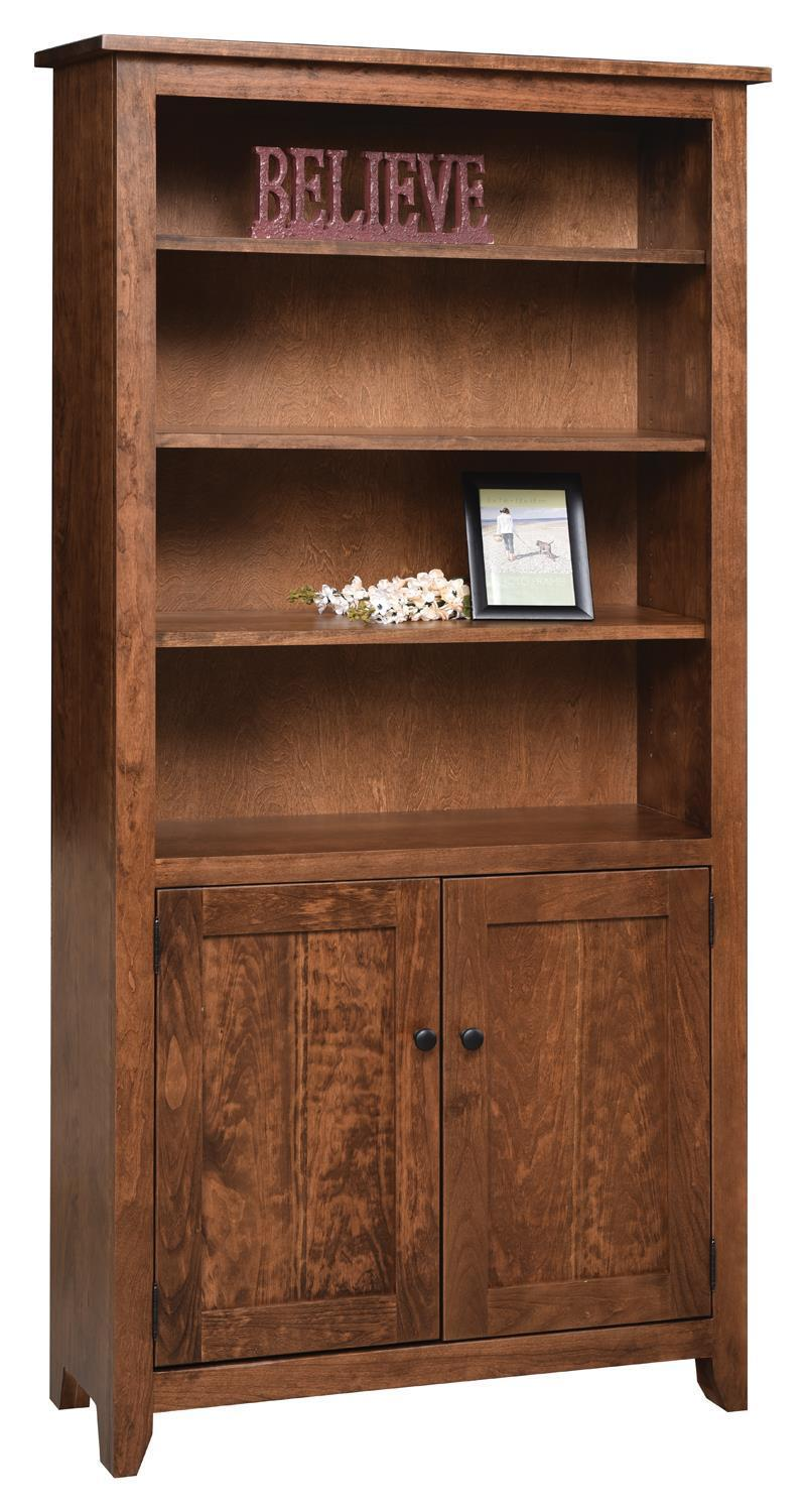 36 Inch Modern Mission Bookcase From Dutchcrafters Amish