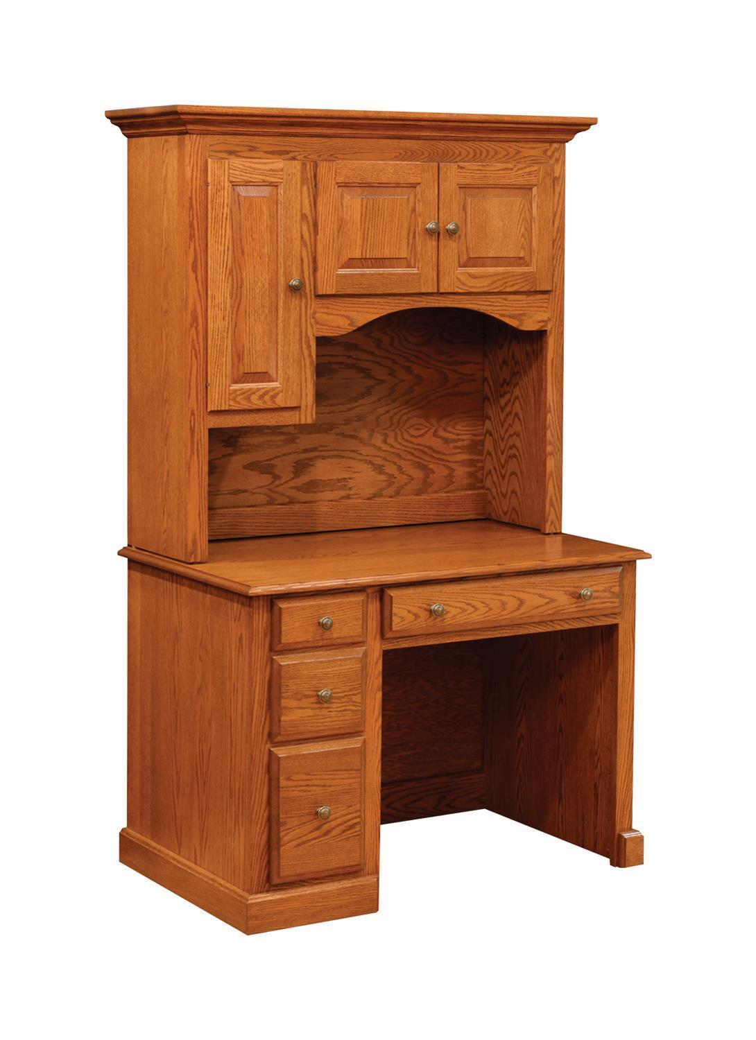 traditional student desk with hutch by dutchcrafters amish furniture. Black Bedroom Furniture Sets. Home Design Ideas