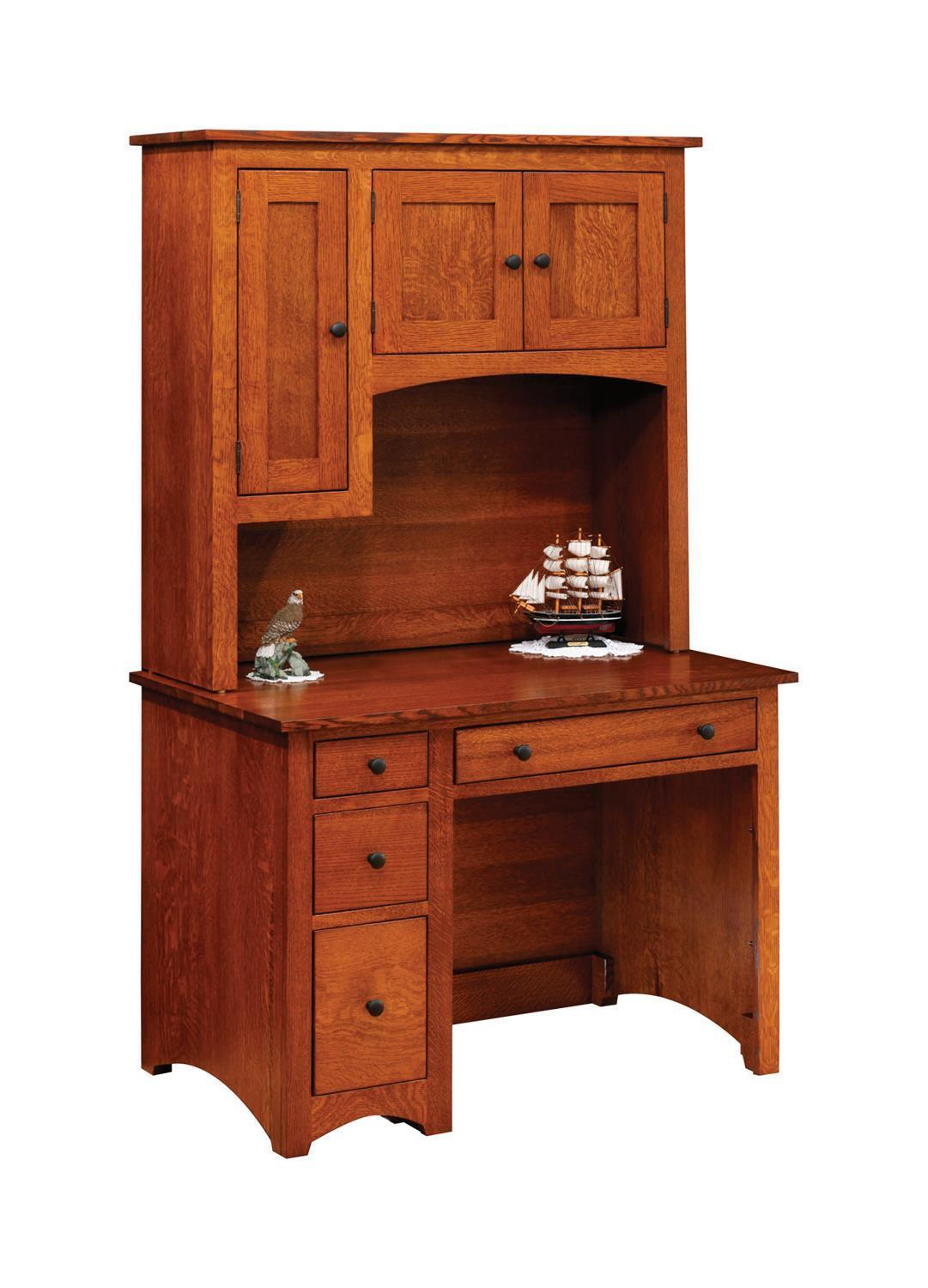 modern shaker student desk with hutch by dutchcrafters amish furniture. Black Bedroom Furniture Sets. Home Design Ideas