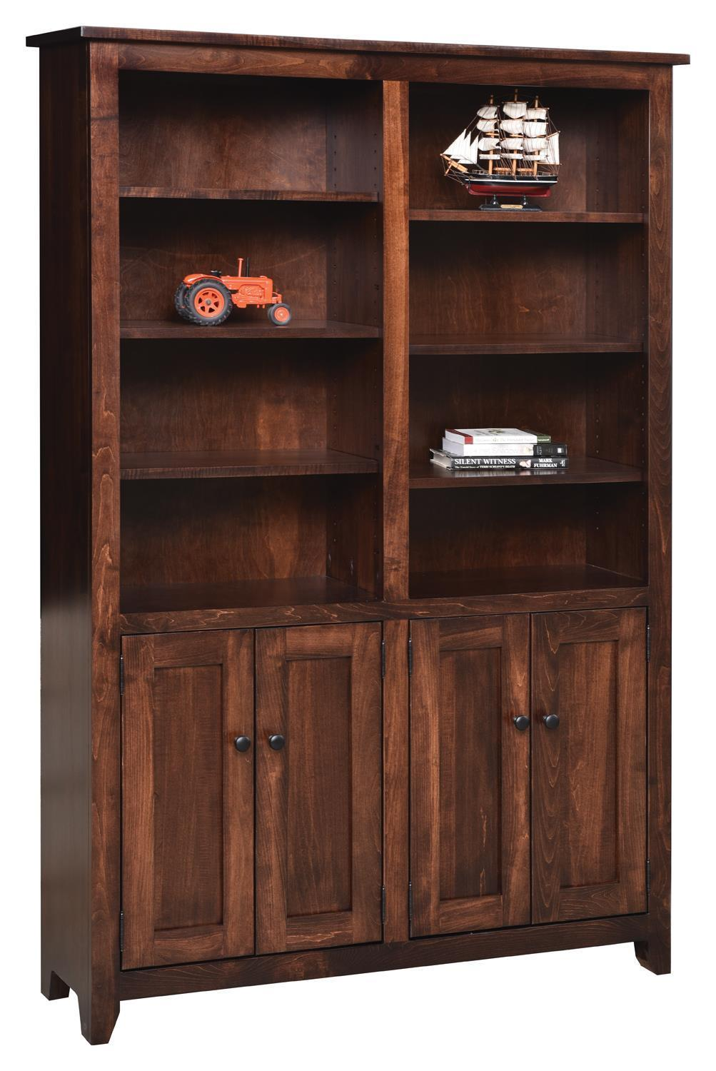 """48"""" Modern Mission Bookcase with Optional Doors by ..."""