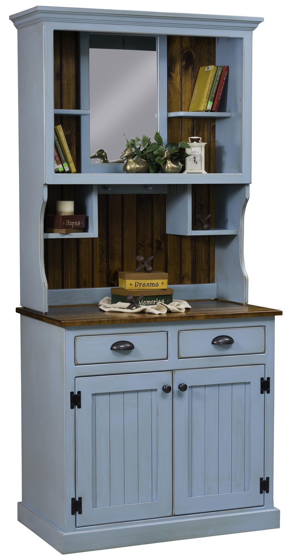 Amish Burbank Country Style Hutch By Dutchcrafters