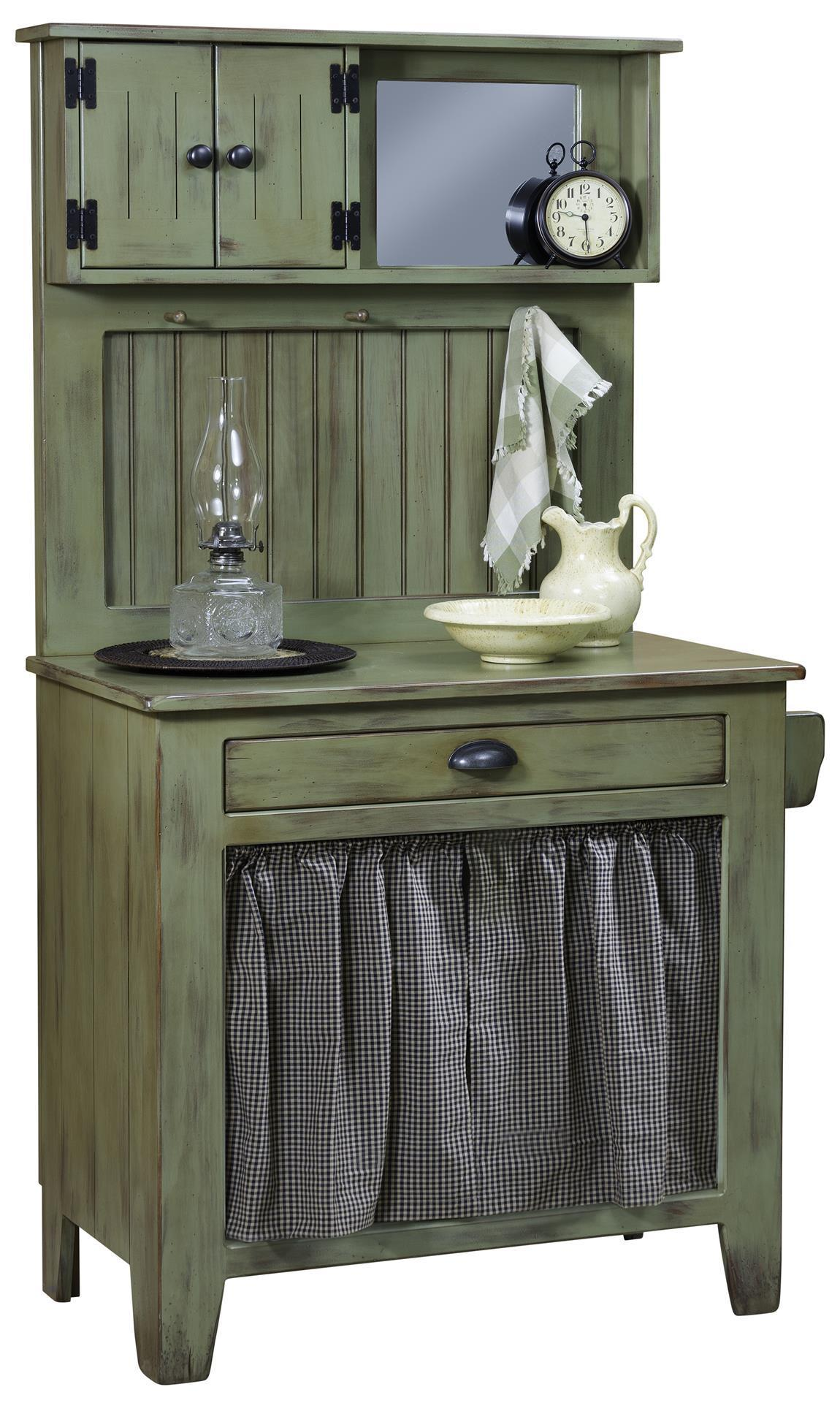 Pine Wood Wash Cabinet from DutchCrafters Amish Furniture