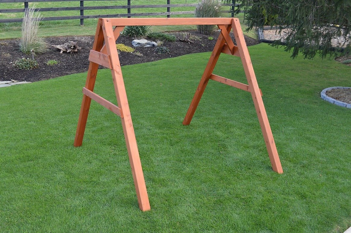 Cedar Wood 4x4 A Frame Swing Stand From Dutchcrafters
