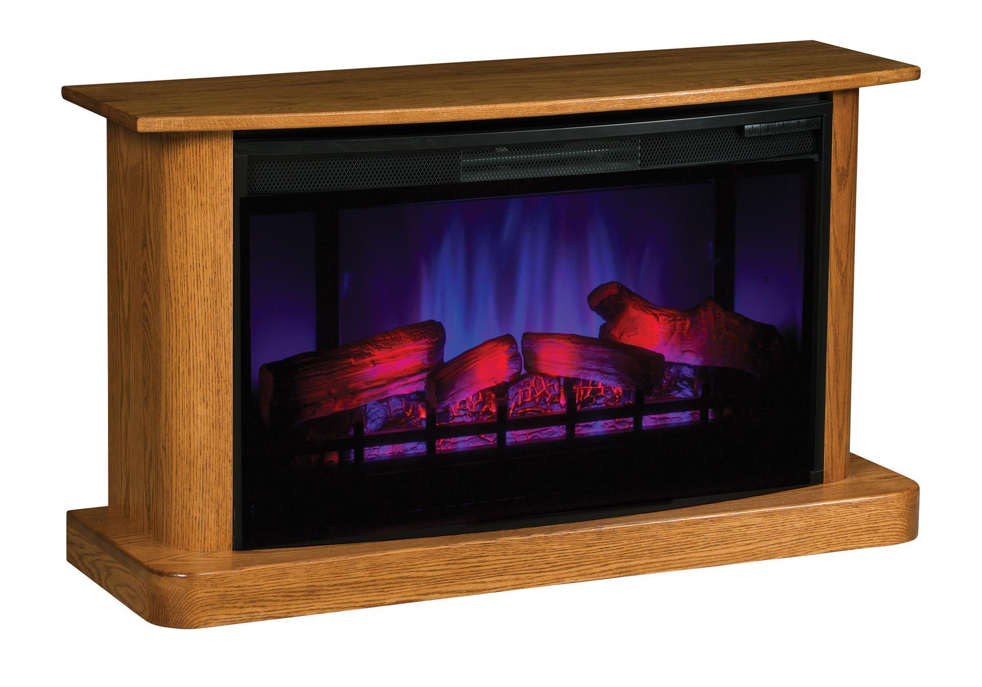 Real Wood Electric Fireplace With Remote From Dutchcrafters