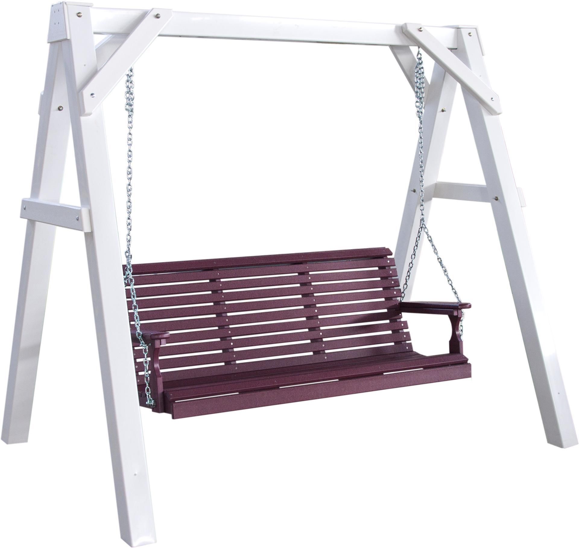Luxcraft A Frame Vinyl Swing Stand From, Outdoor Swing Bench With Stand