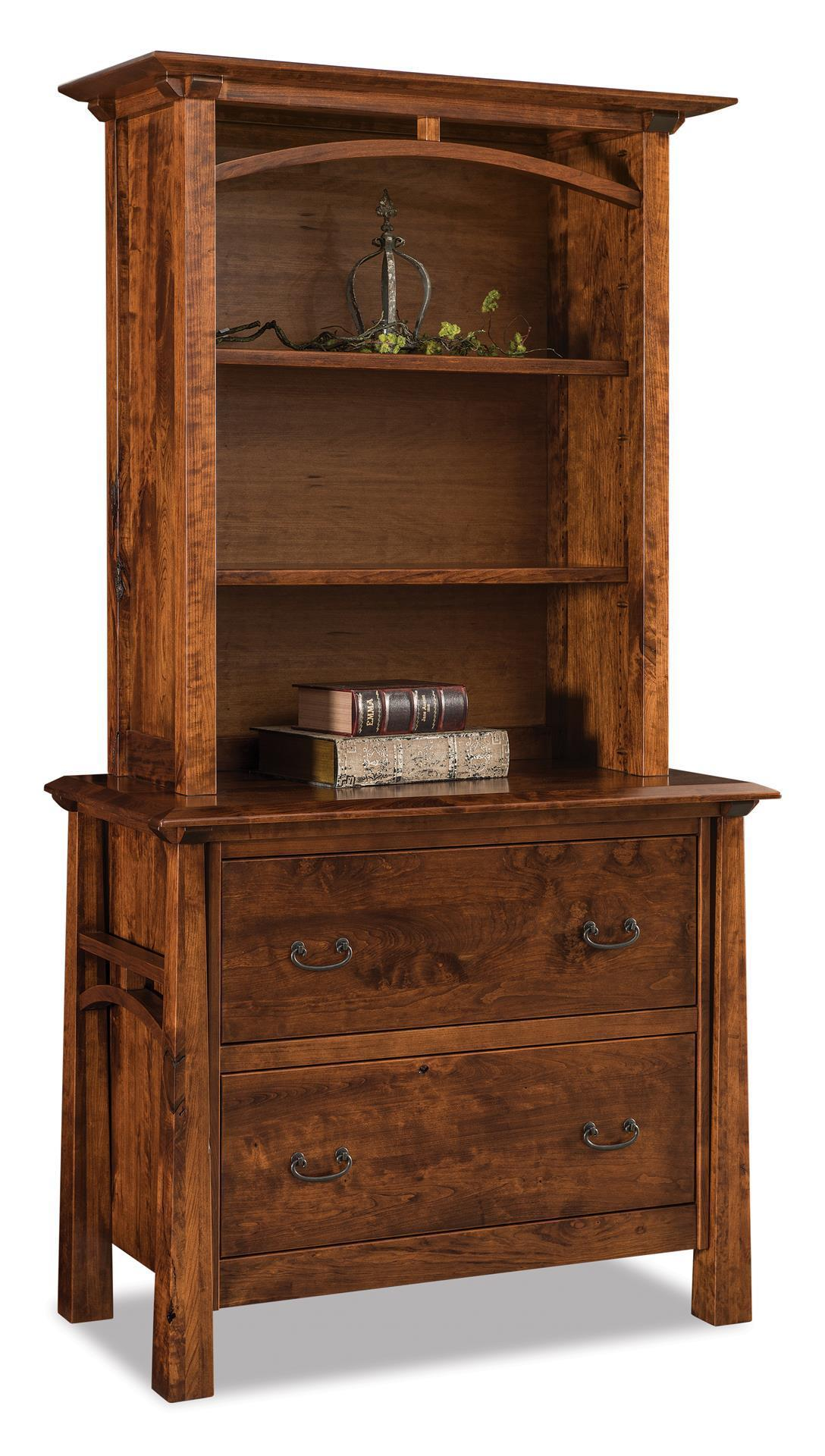 Atresa Lateral File Cabinet With Bookcase Top From