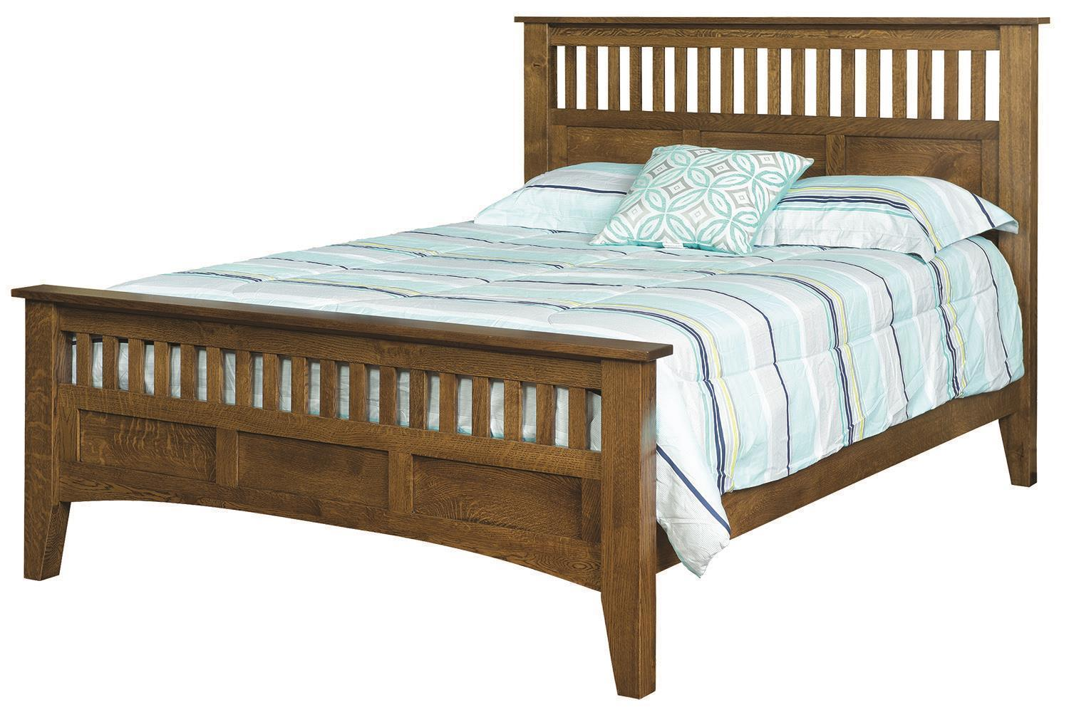 Quick Ship Siesta Mission Bed In Oak Wood From