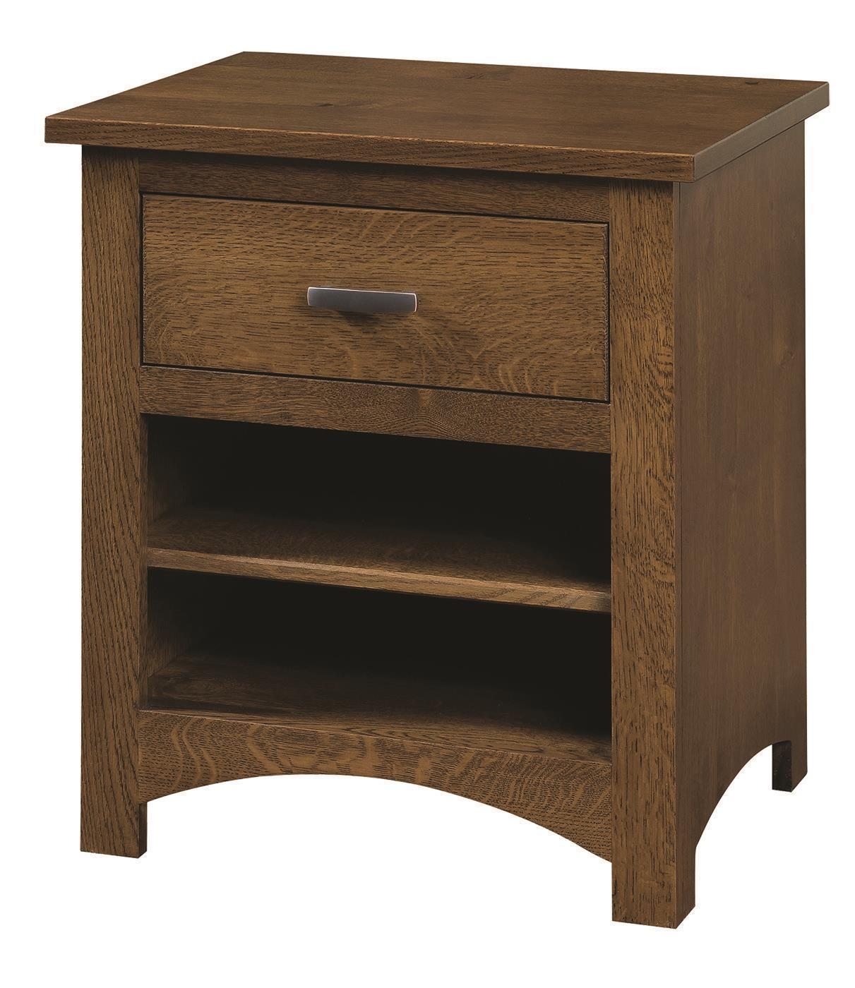 Quick Ship Siesta Mission Nightstand In Oak Wood From