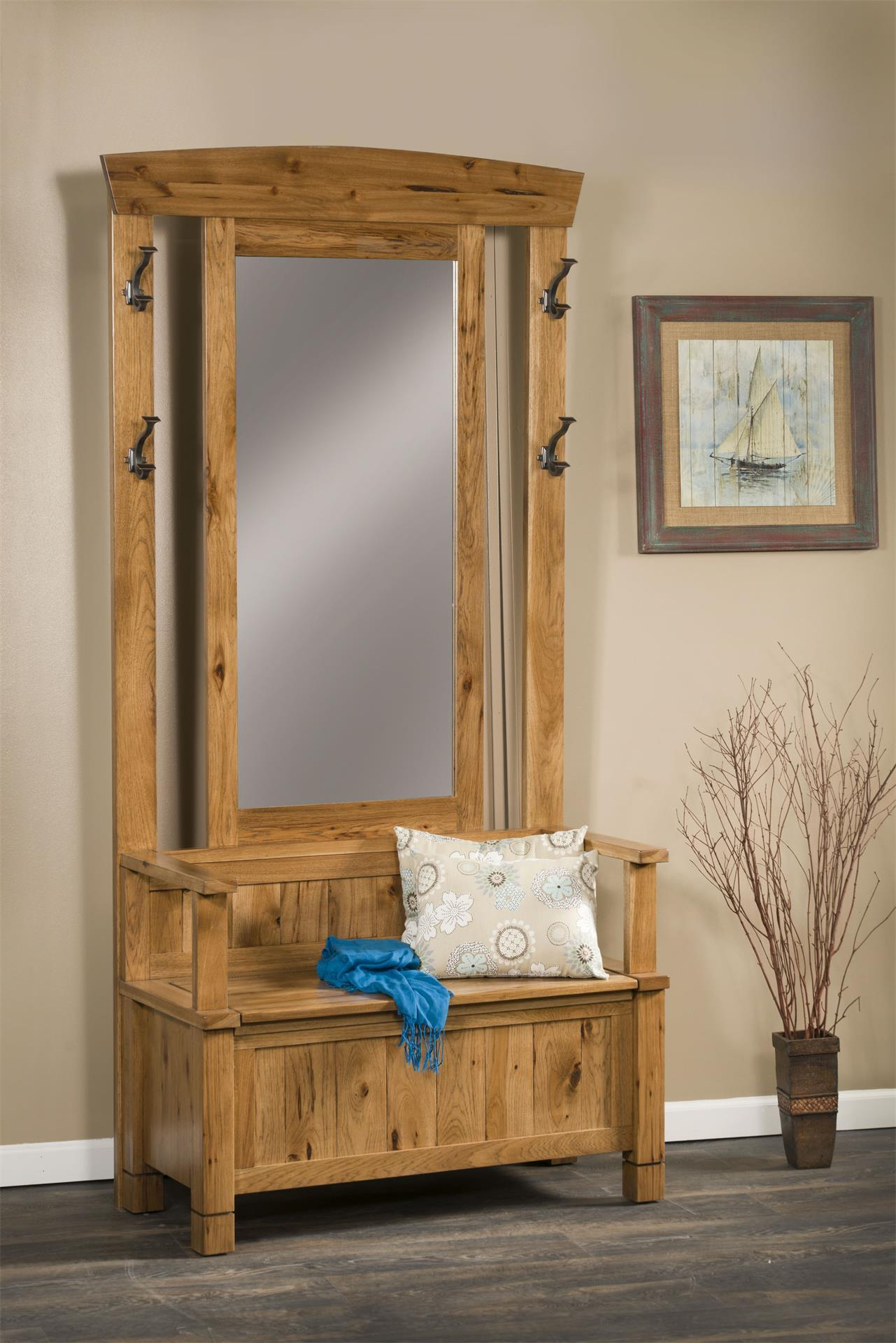 Amish Greyson Hall Tree Bench 166 Dutchcrafters