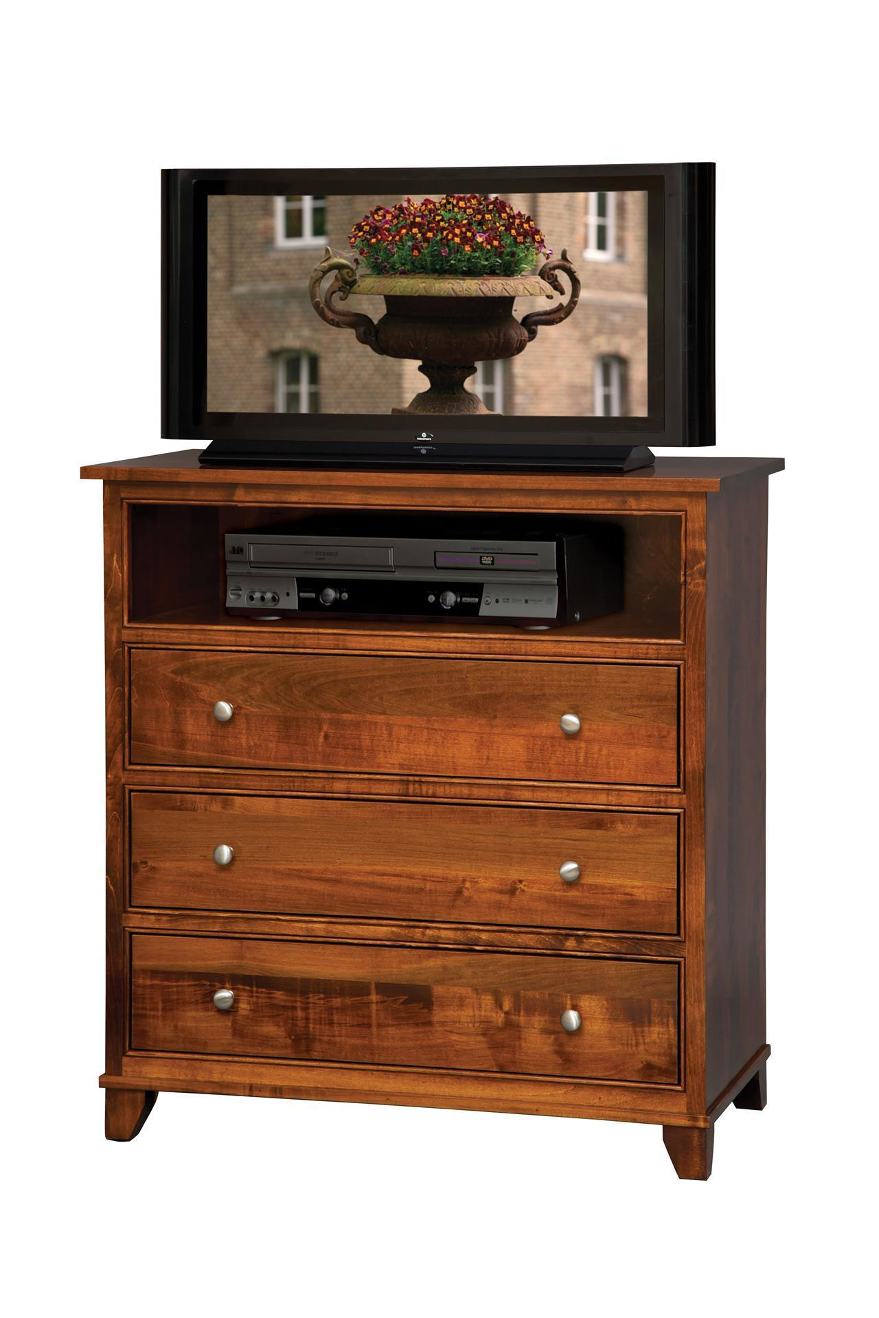Amish Sline Tv Chest Of Drawers