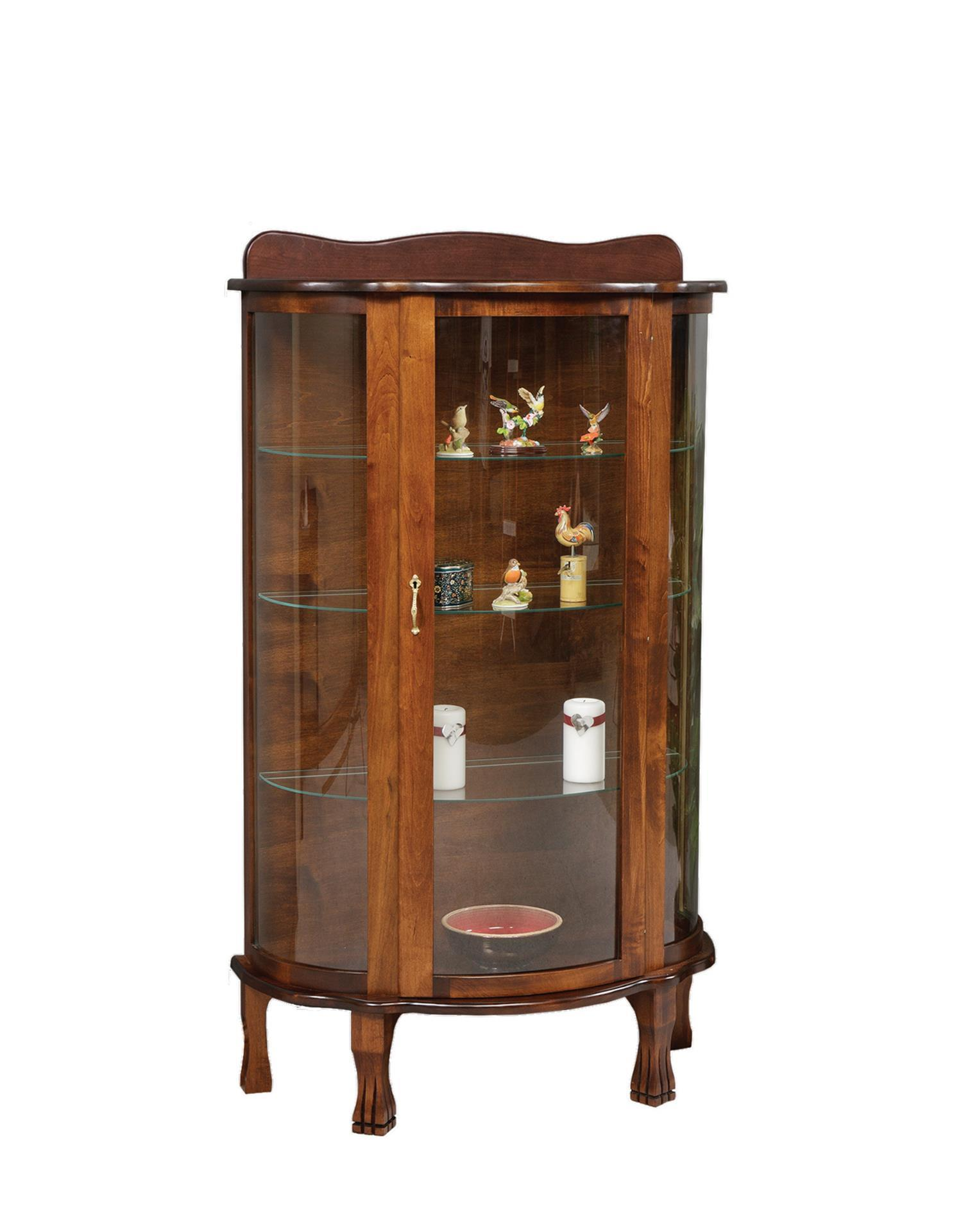 kitchen curio cabinet solid wood curio cabinet from dutchcrafters amish furniture 21629
