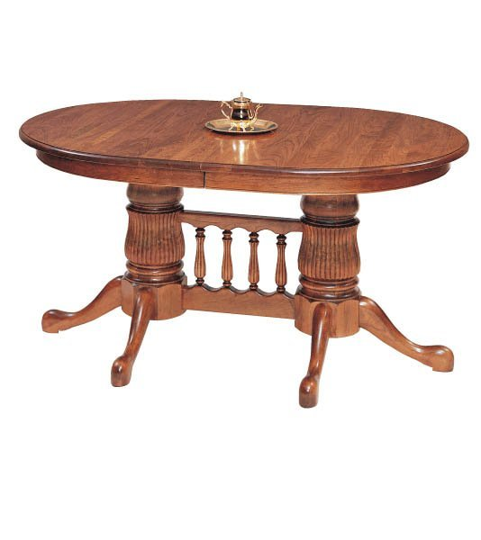 Double Pedestal Dining Room Table: Amish Double Pedestal Dining Room Table By DutchCrafters