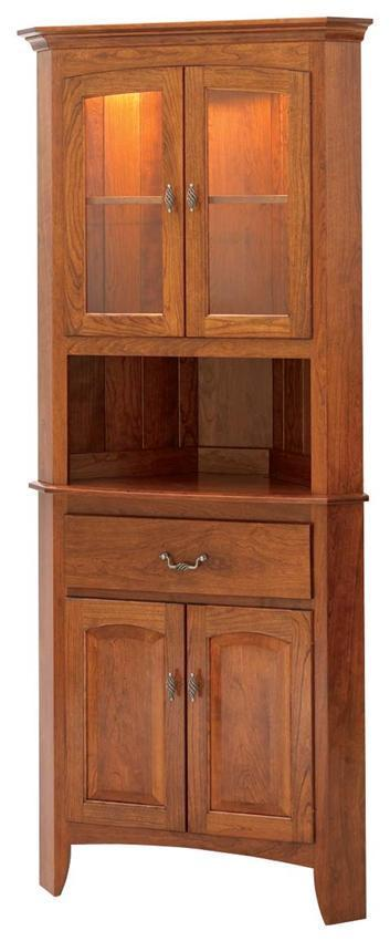 Hardwood Manchester Corner Buffet And Hutch From Dutchcrafters