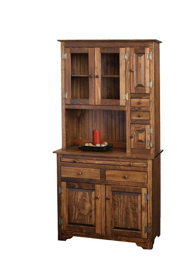 Pine Farmhouse Hoosier Hutch Cabinet From Dutchcrafters Amish