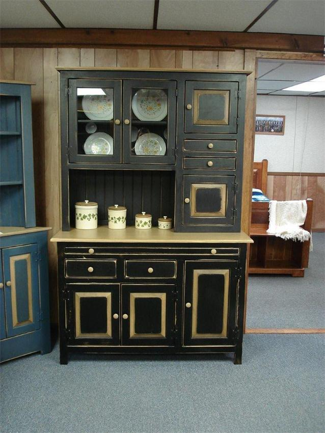 Amish Pine Hoosier Hutch Cupboard Quick Ship