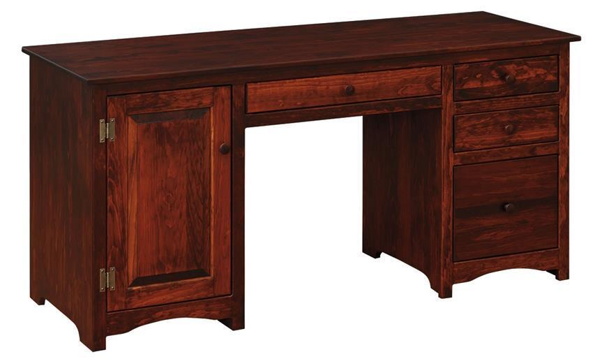 amish pine wood computer desk. Black Bedroom Furniture Sets. Home Design Ideas