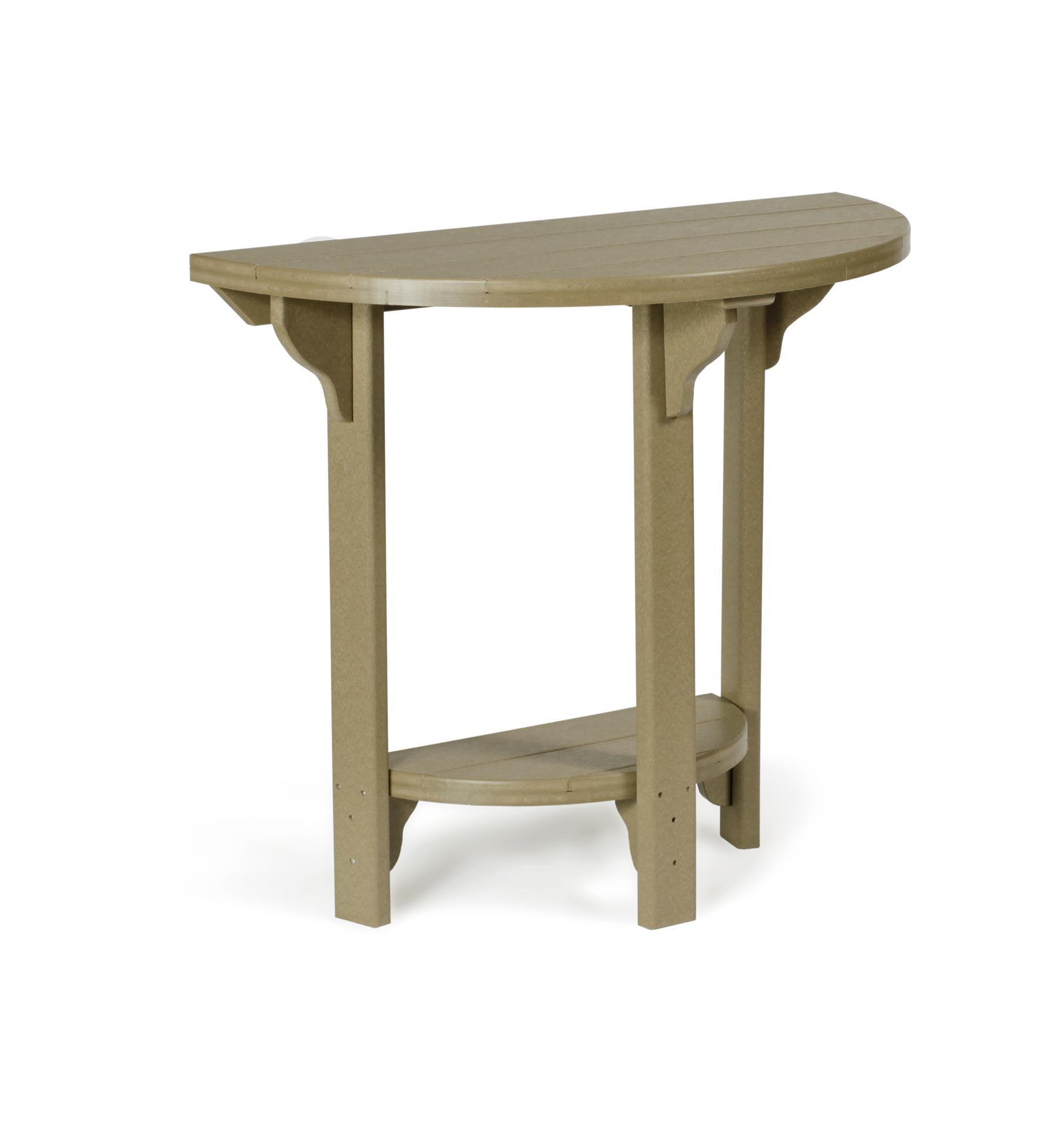 Poly half round bar height table from dutchcrafters amish furniture