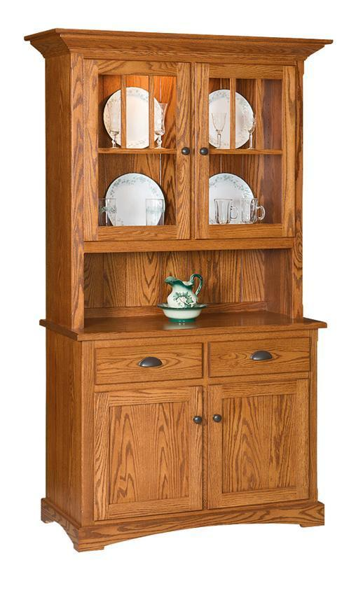 Solid Wood Mission Hutch And Buffet From Dutchcrafters Amish Furniture