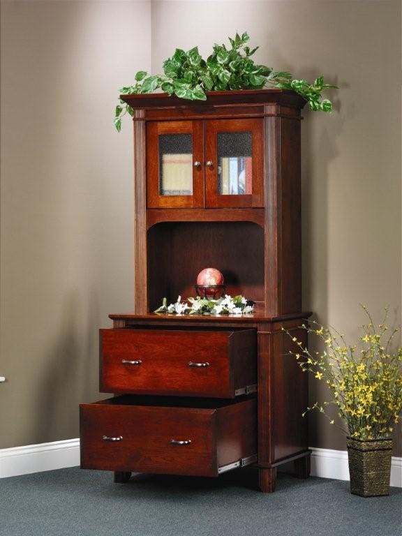 Arlington Executive Lateral File Cabinet With Open Hutch